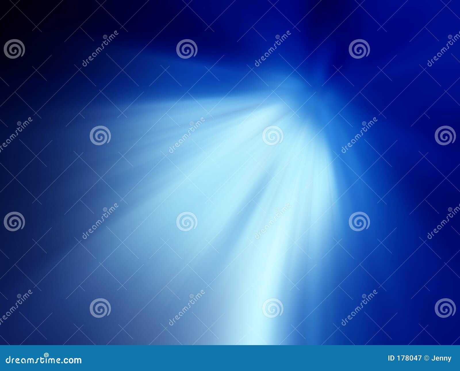 Luz brillante azul