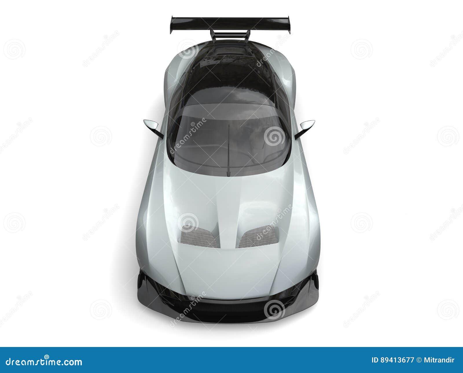 Luz - carro de esportes moderno metálico cinzento