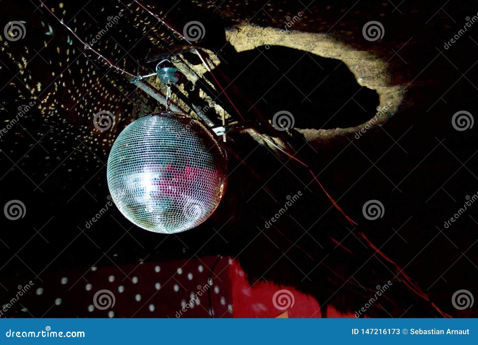 Luz das bolas do espelho do disco
