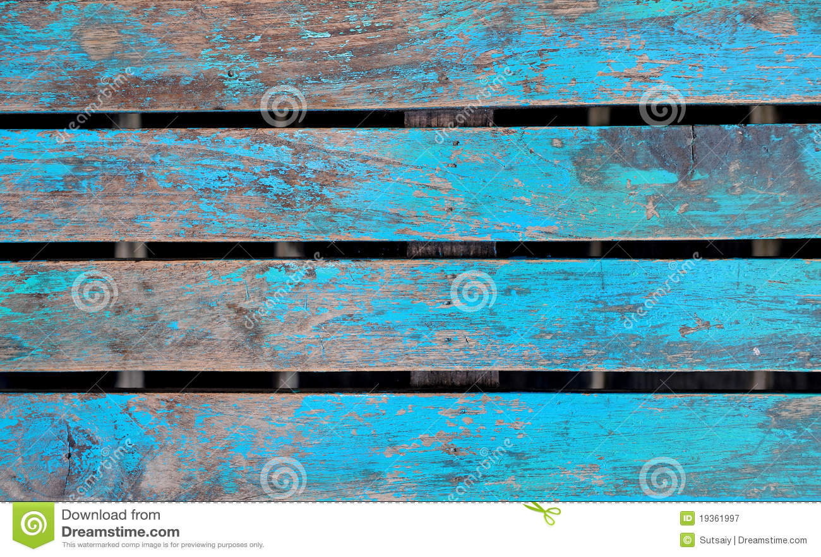 Luz de madeira - azul
