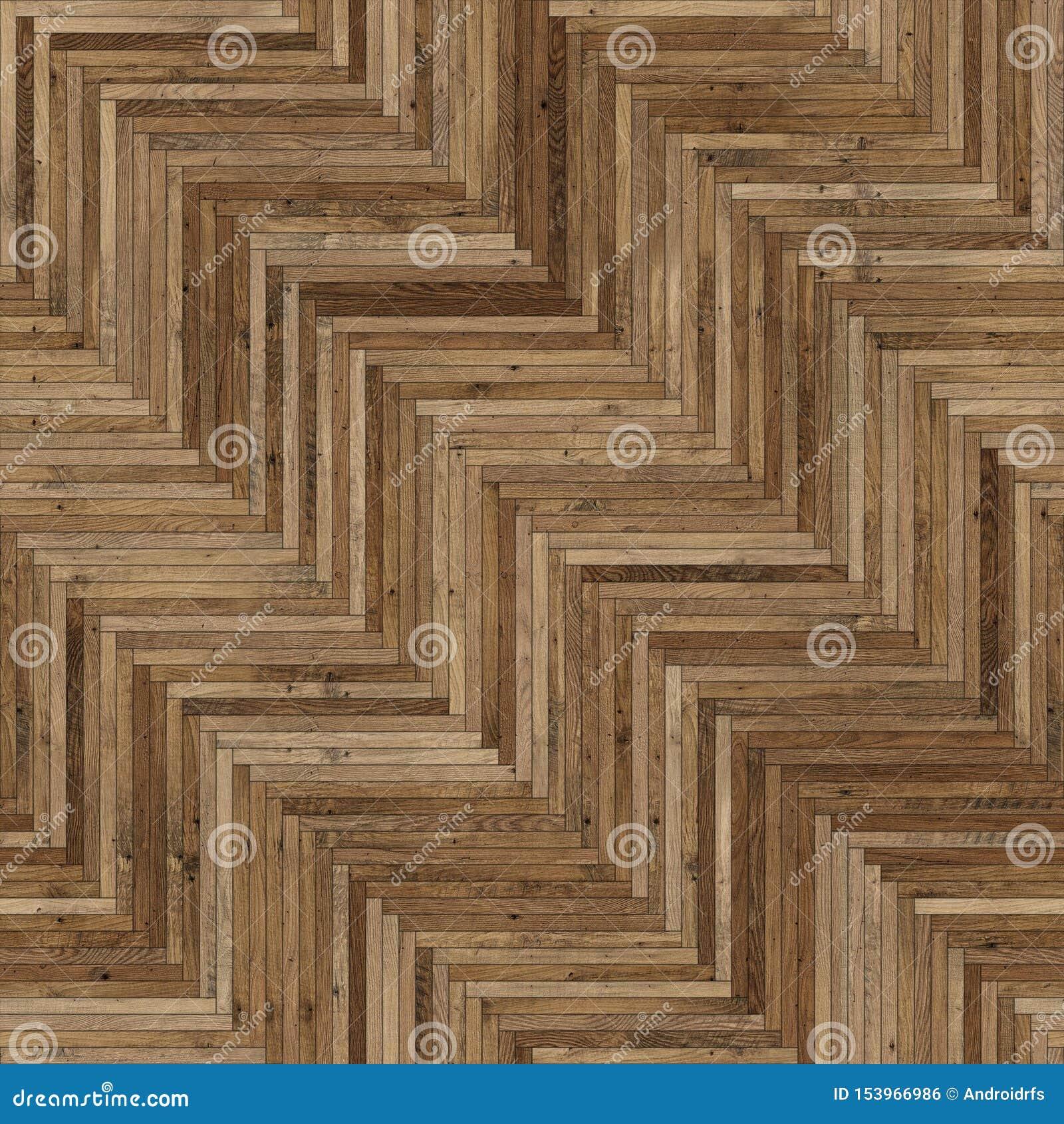 Luz de madeira sem emenda de desenhos em espinha da textura do parquet - marrom