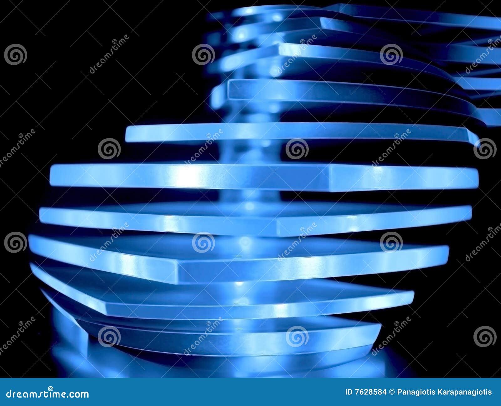 Luz decorativa azul abstracta