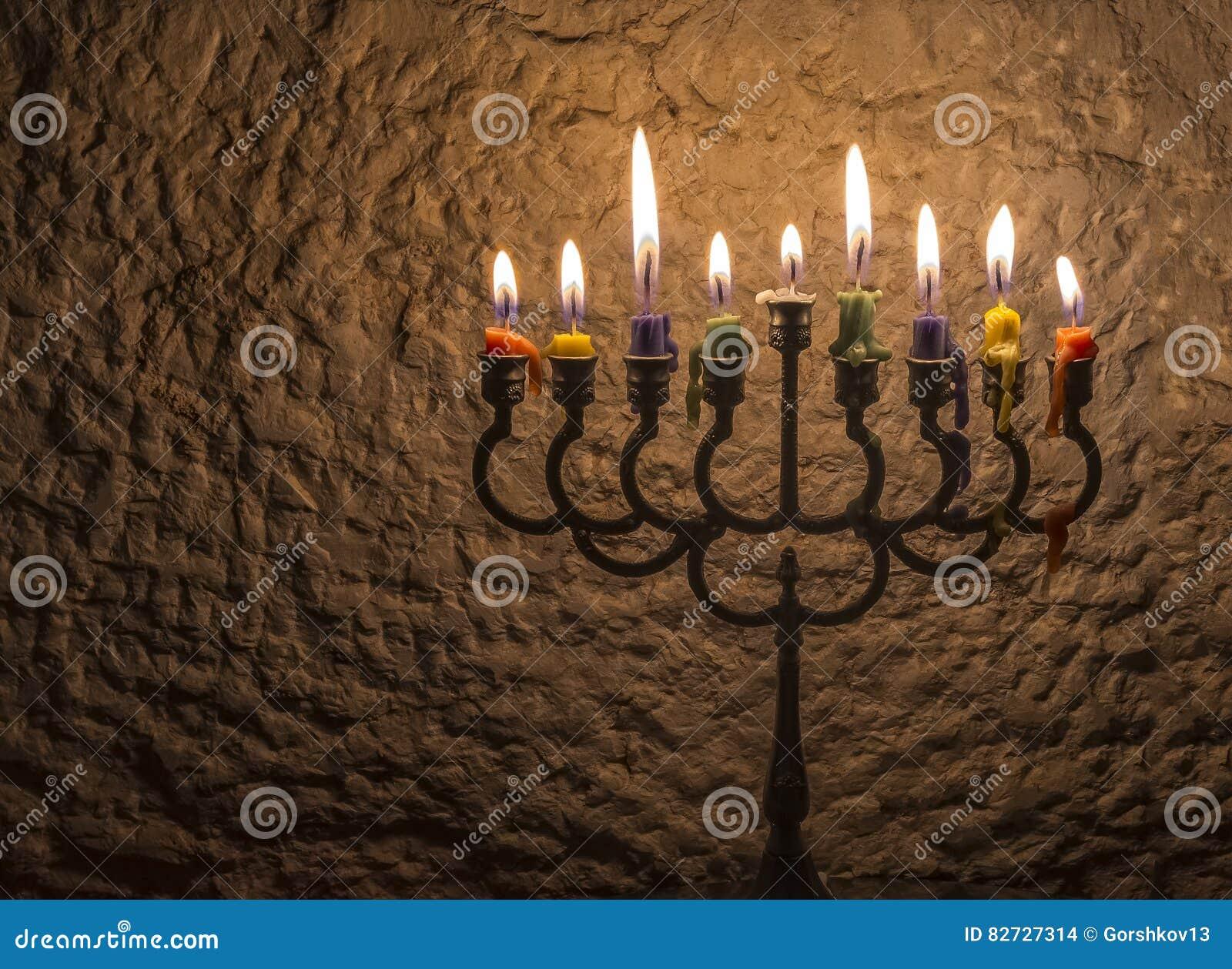 Luz do brilho das velas