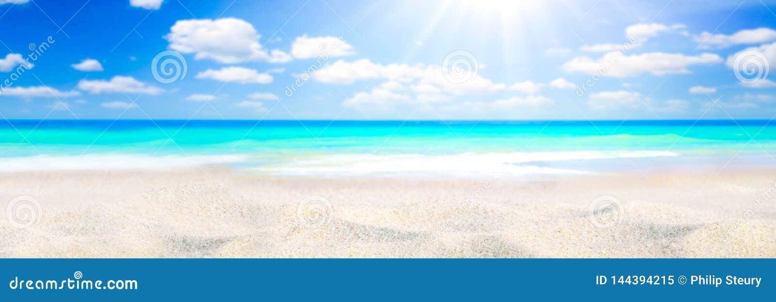 Luz do sol na praia