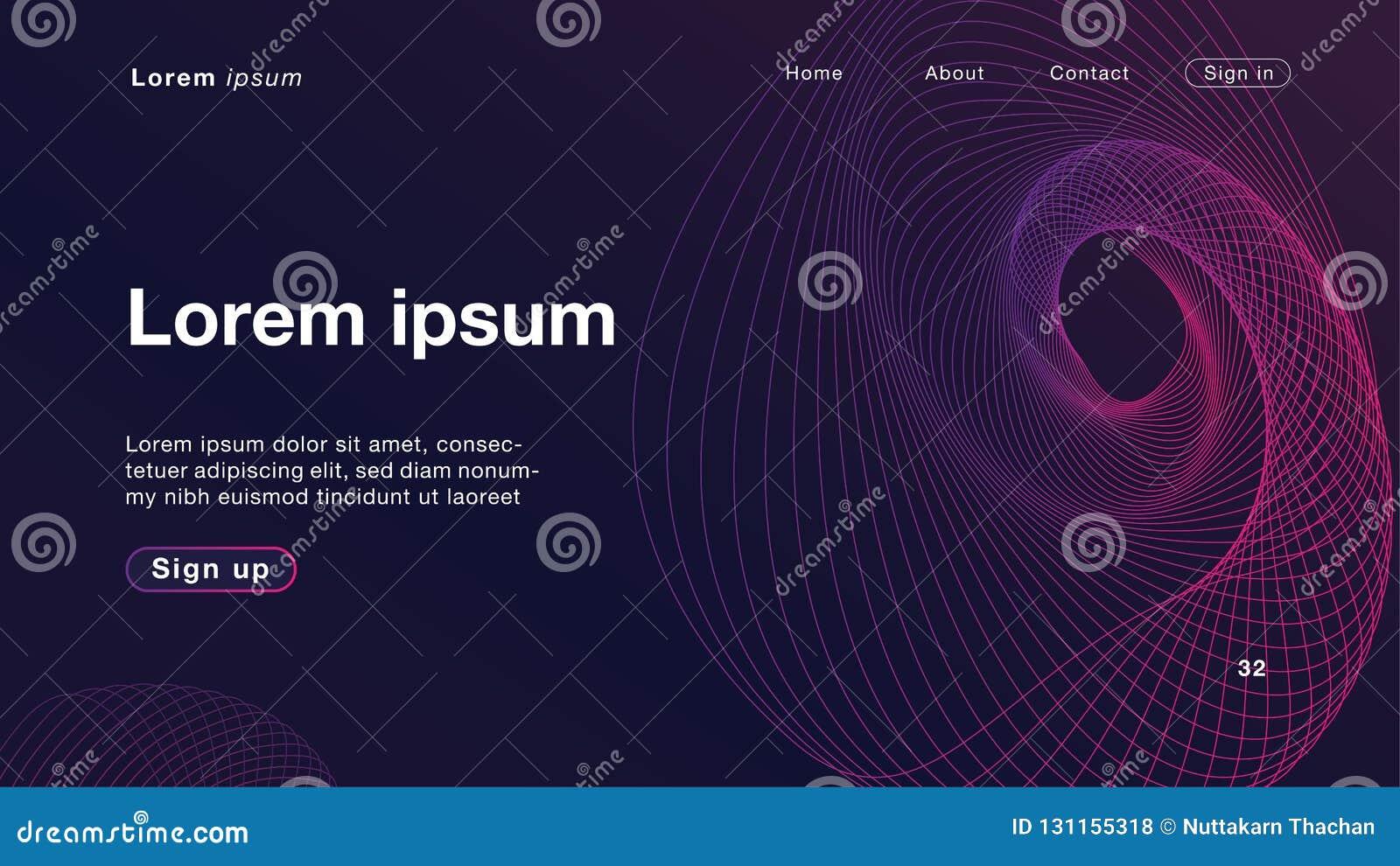 Luz roxa das ondas lineares dinâmicas do sumário do fundo para o homepage
