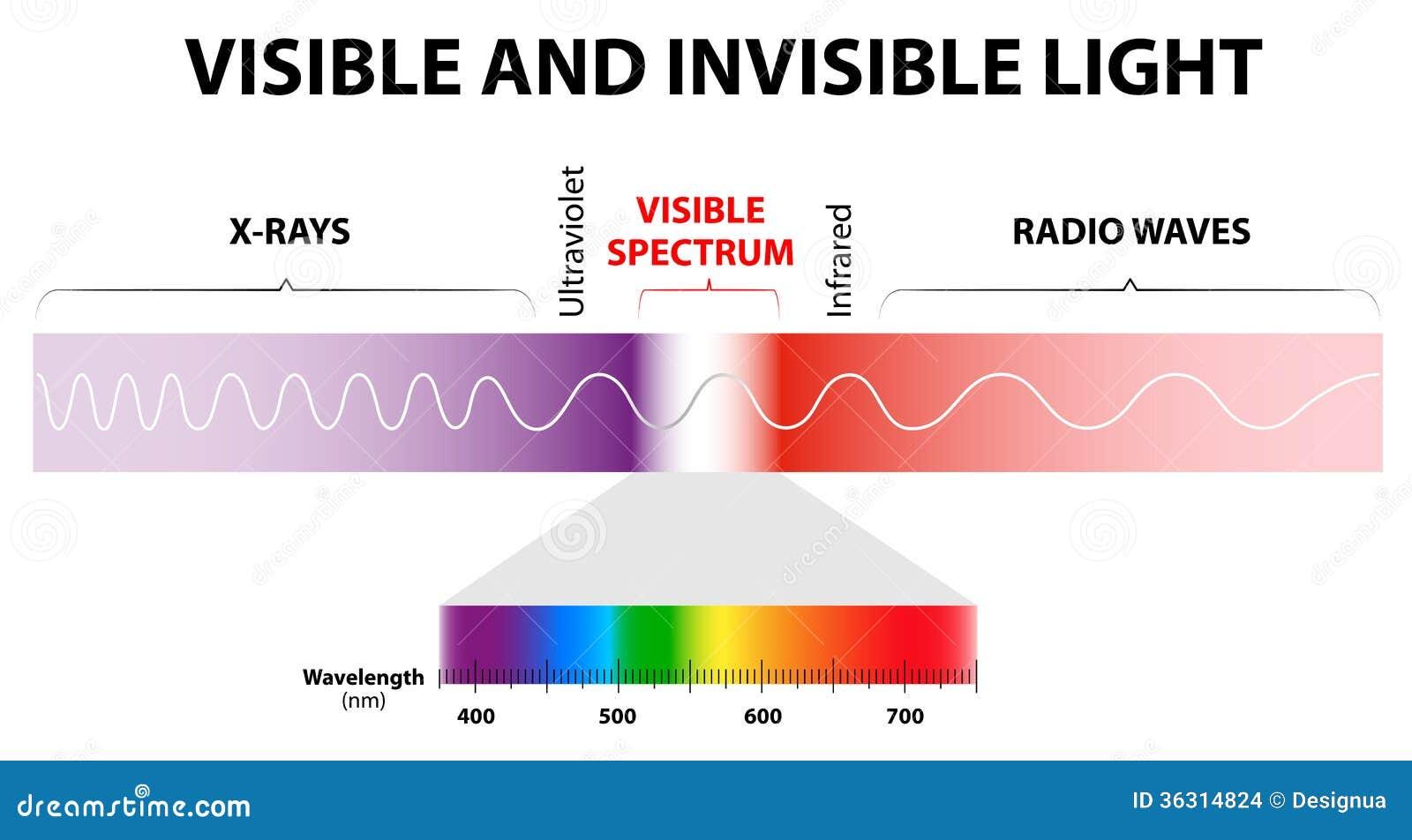 Luz Visible E Invisible Ilustraci 243 N Del Vector