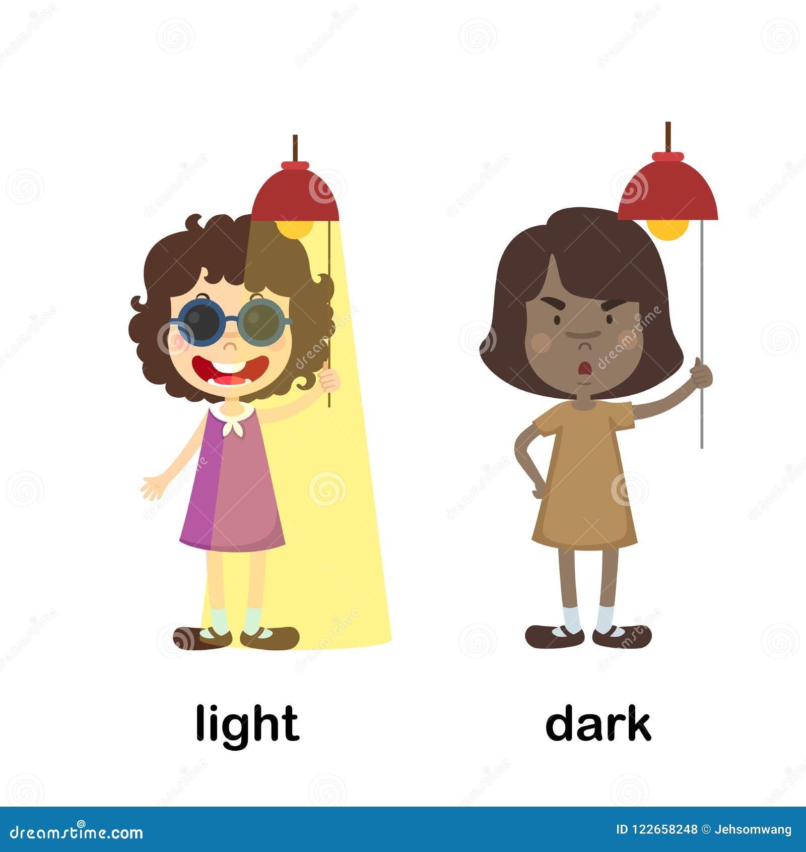 Luz y oscuridad opuestas