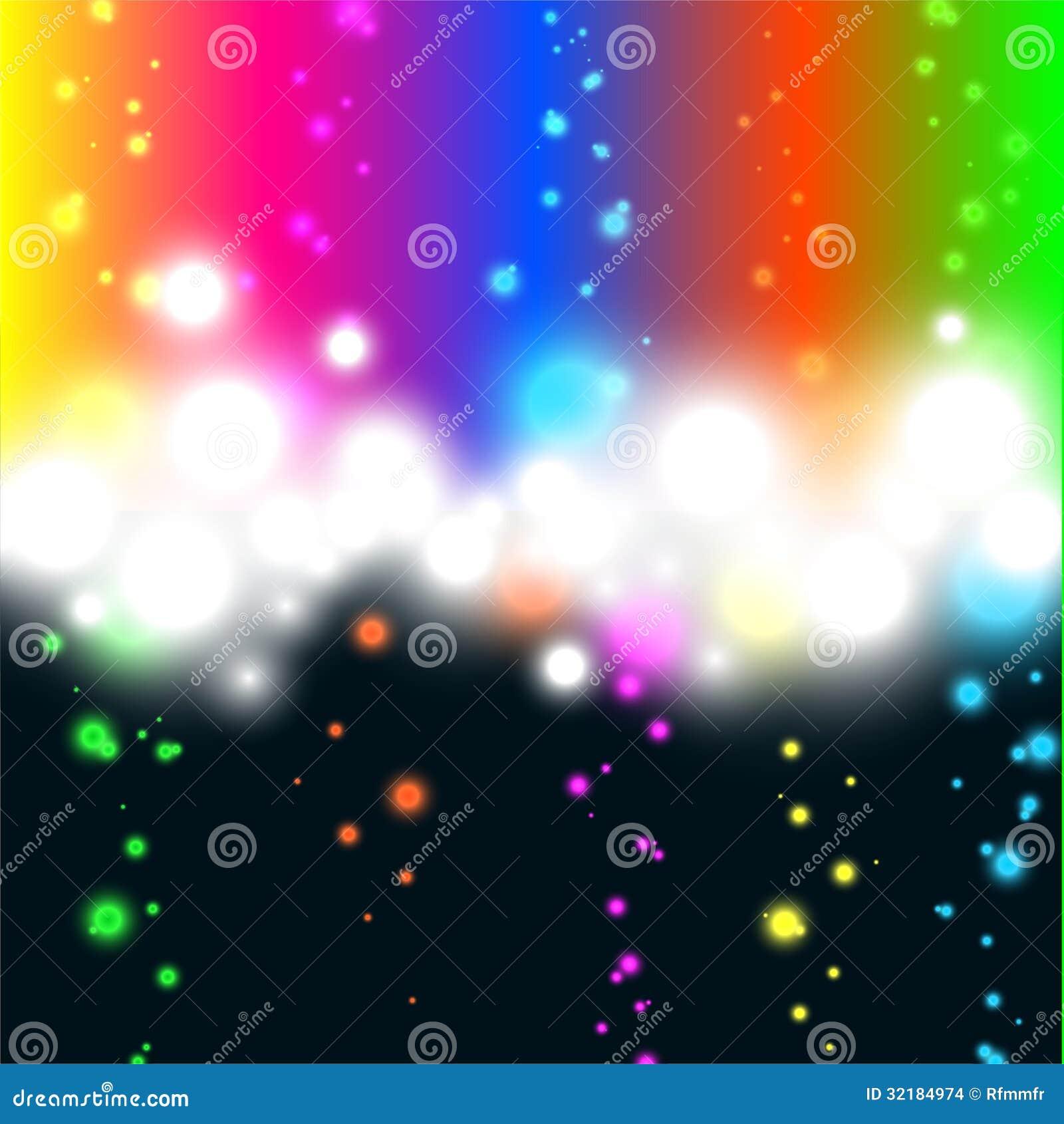 luzes bonitas ilustração abstrata do vetor ilustração do vetor