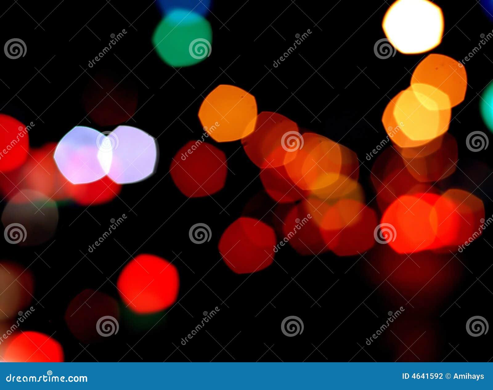 Luzes borradas coloridas