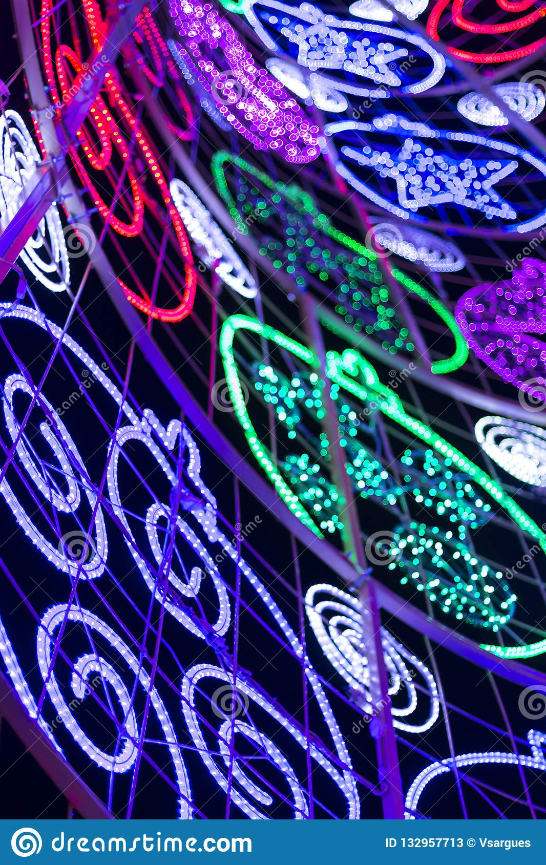 Luzes conduzidas da árvore de Natal
