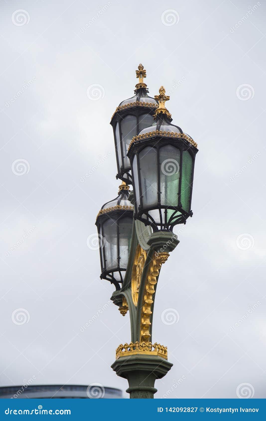 Luzes de rua em grande Londres