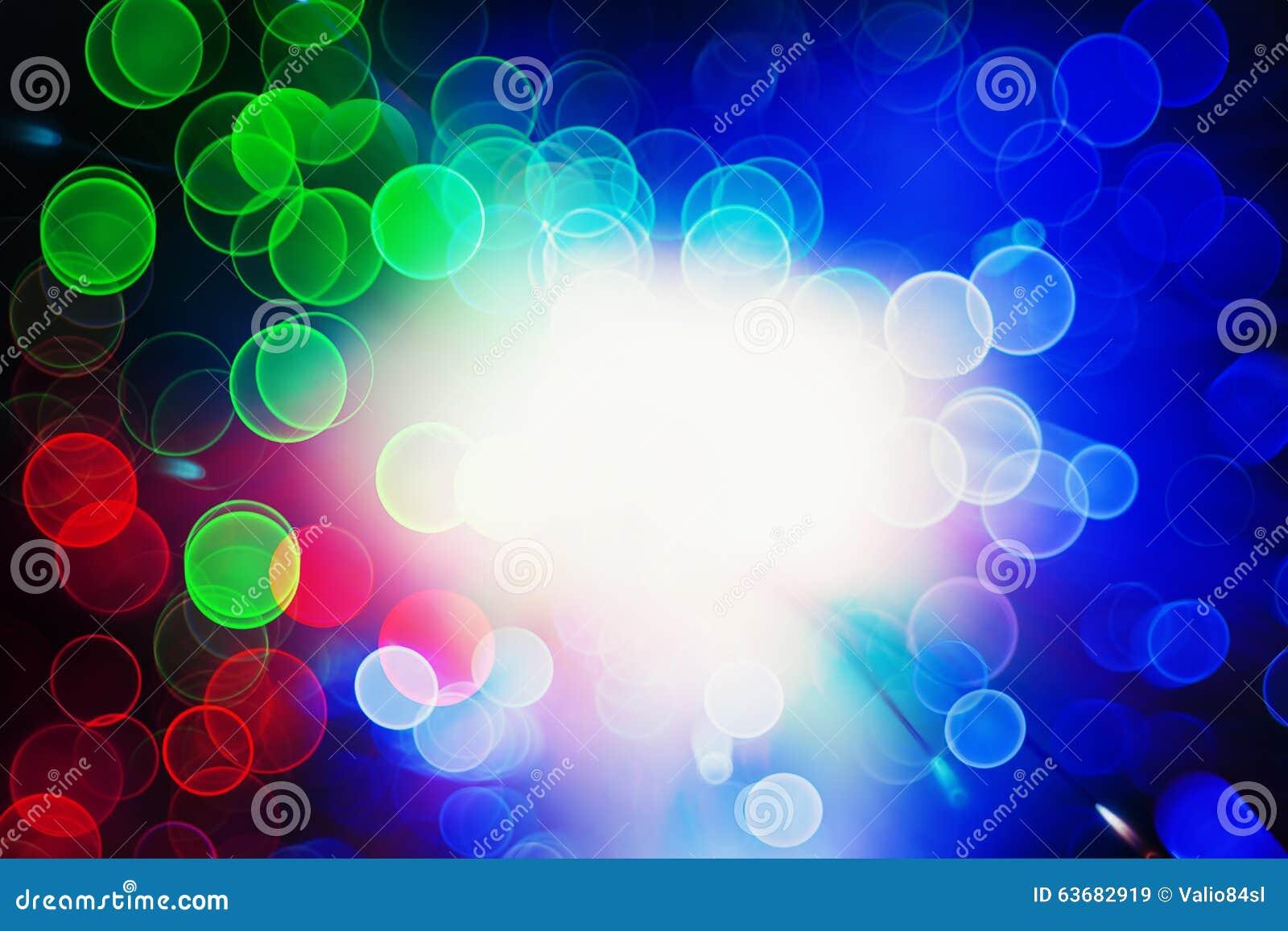Luzes Defocused do bokeh: fibra ótica
