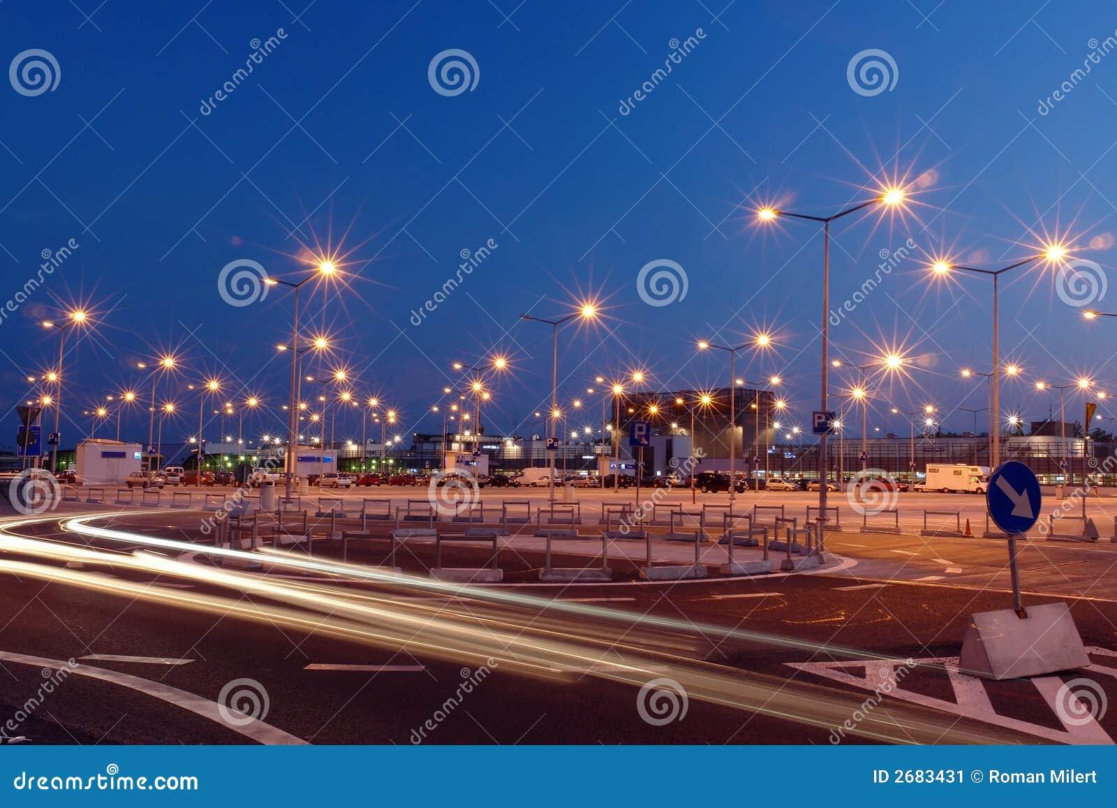 Luzes do lote de estacionamento