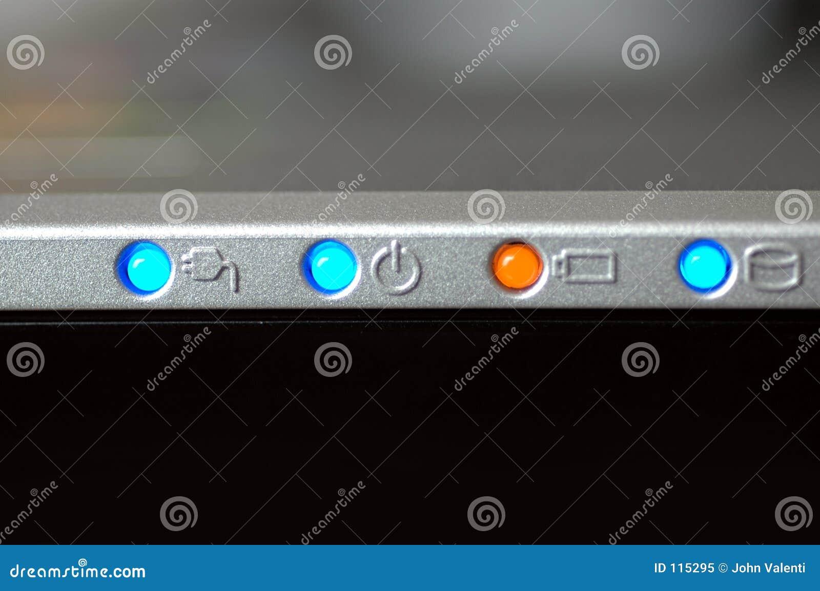 Luzes do portátil