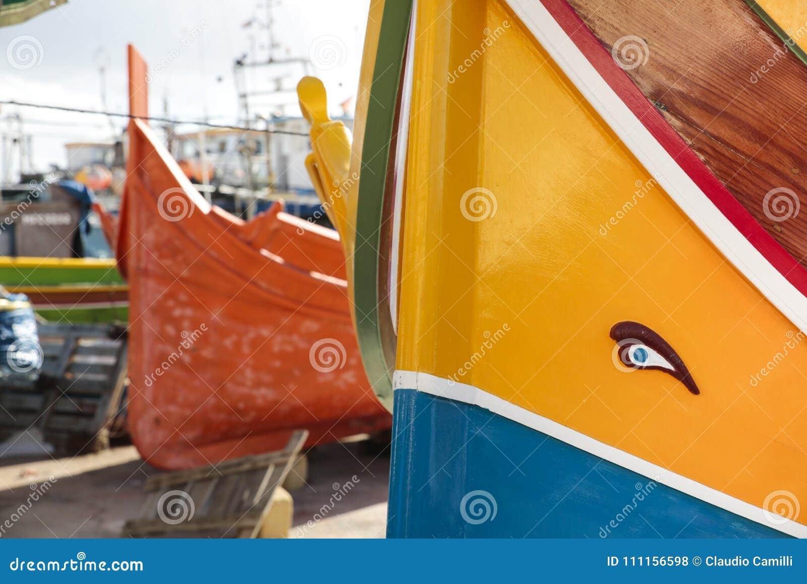 Luzzu the typical Boat of Malta