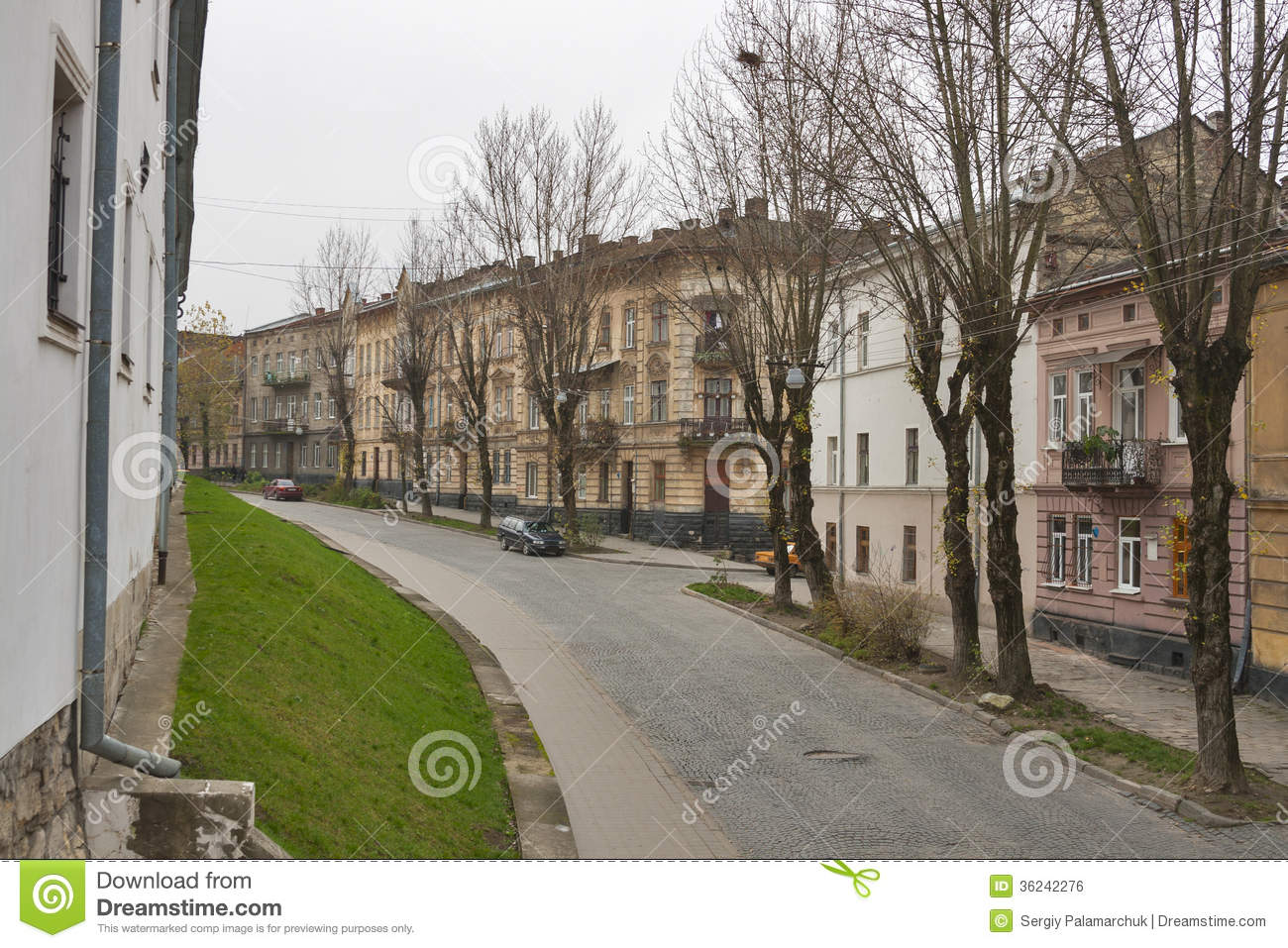 Lviv Old City Residential Street Stock Photo Image 36242276
