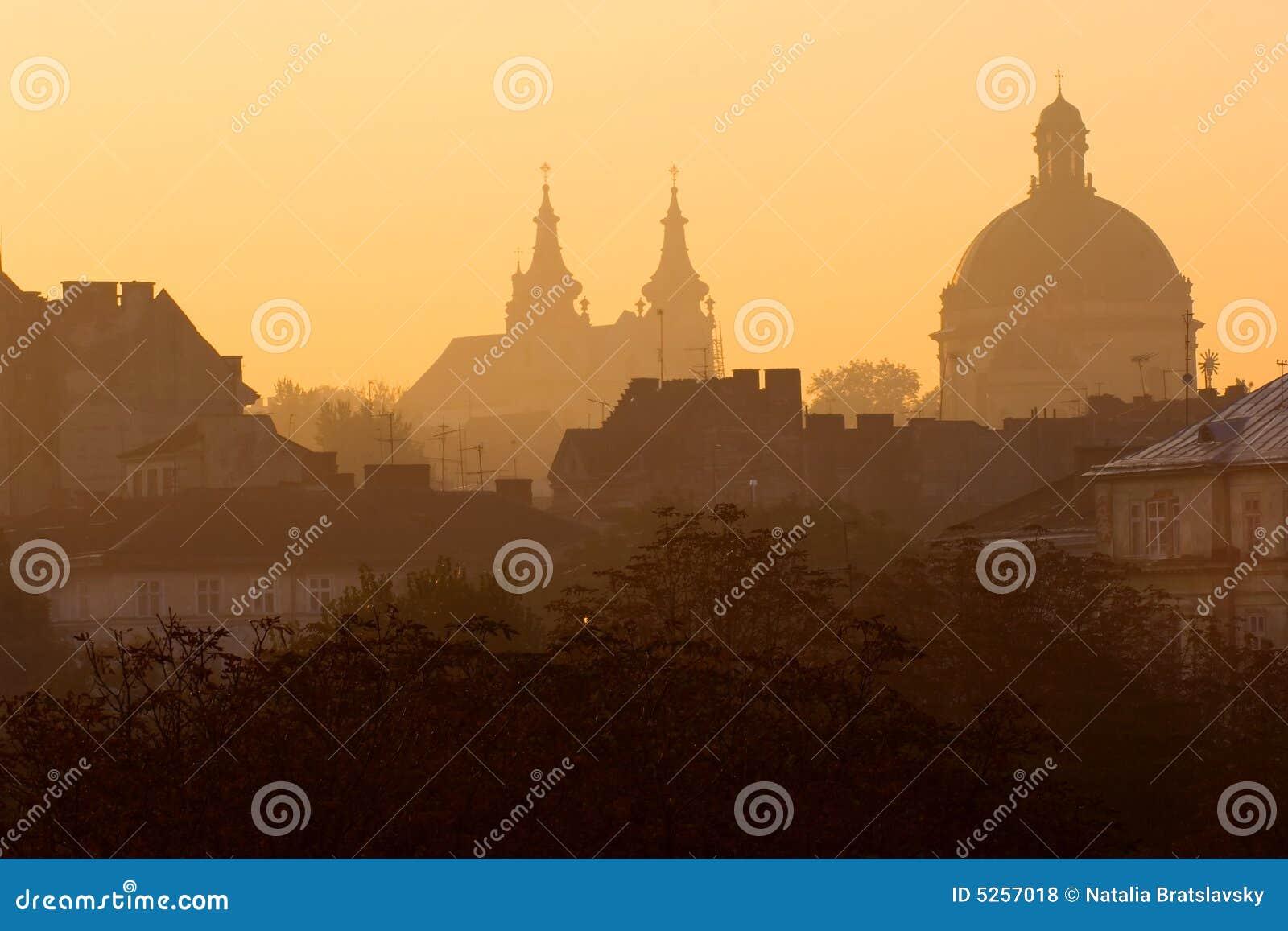Lviv soluppgång
