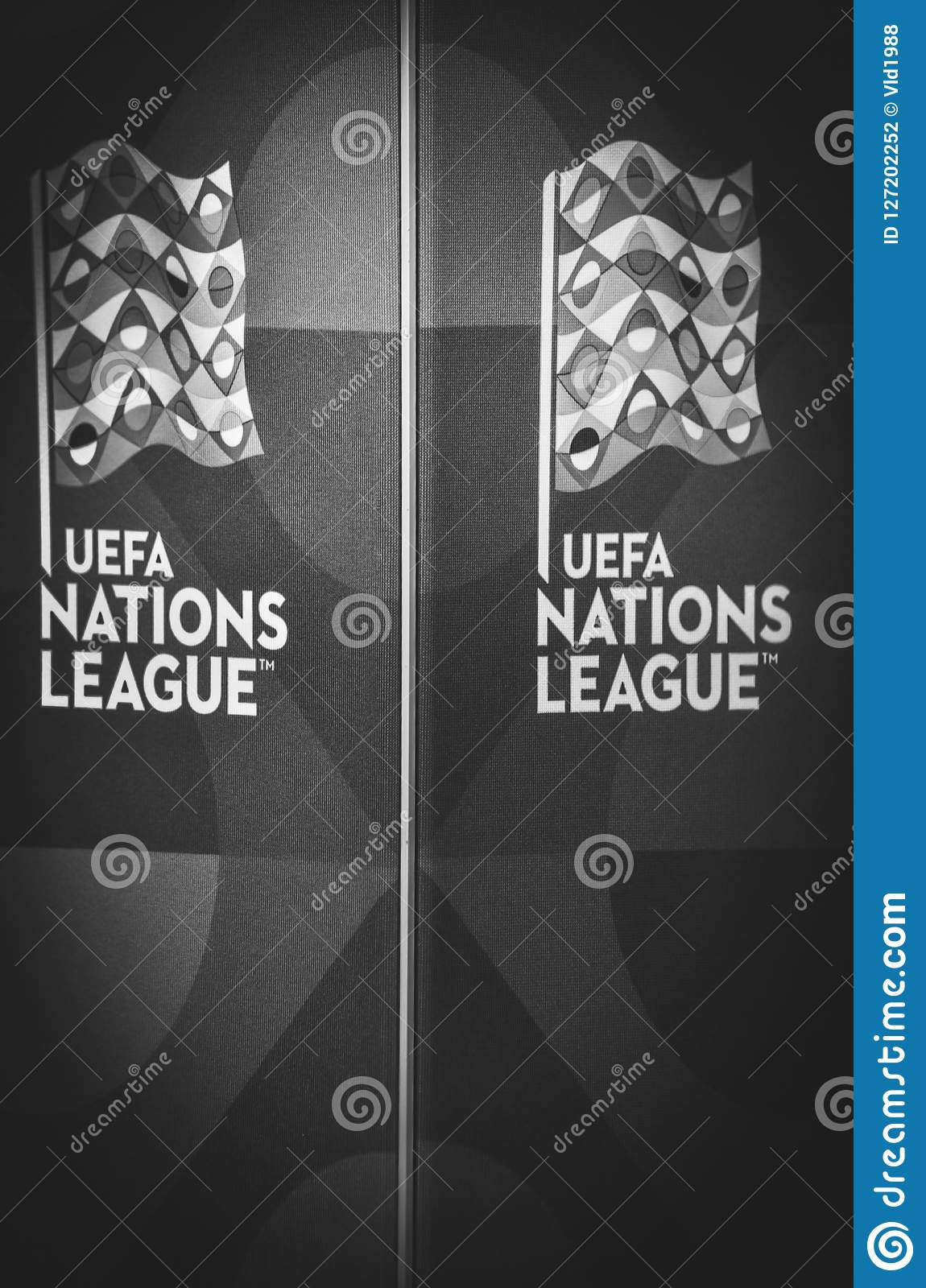 Lviv Ukraine August 10 2018 Logo Uefa Nations League On Th Editorial Photography Image Of Green Grass 127202252