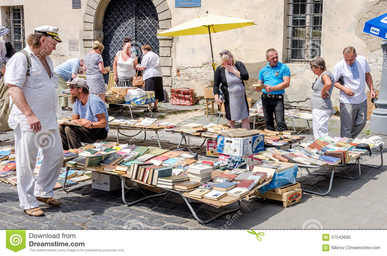 Lviv ukraine july 2015 men and women choose and buy for Valuable items to sell