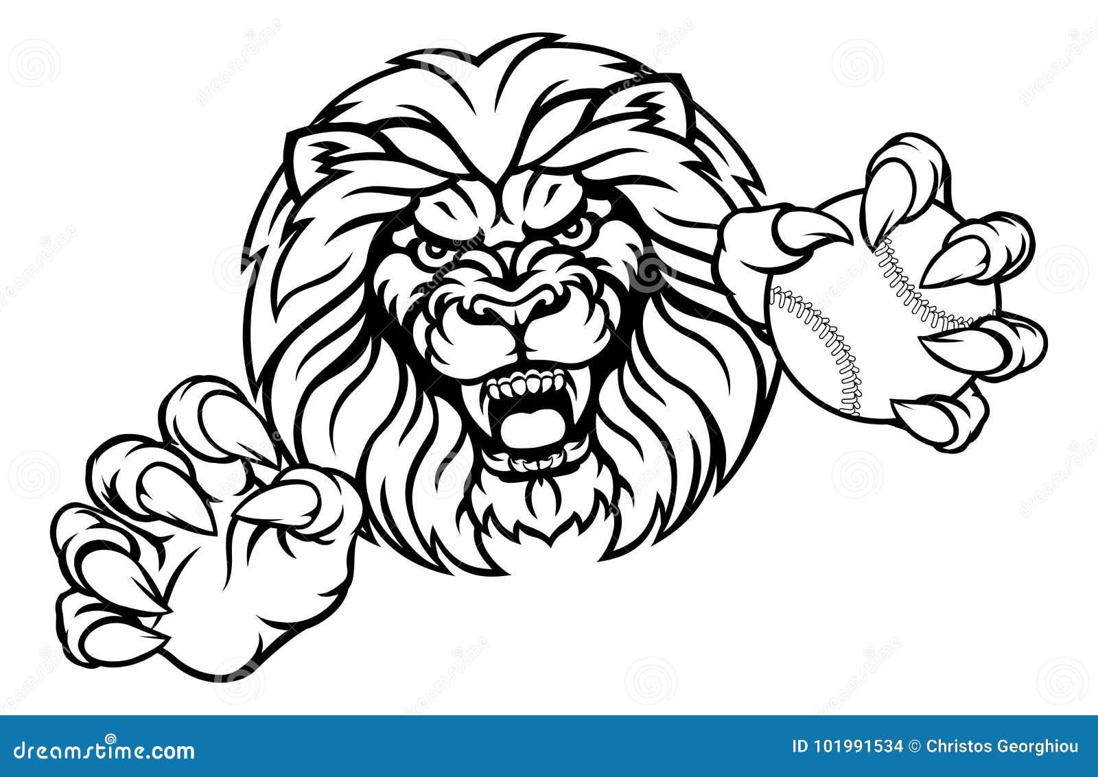 Lwa baseballa sportów Balowa maskotka