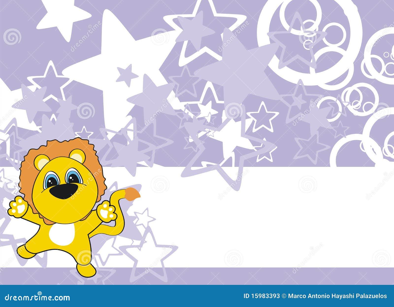 Lwa dziecka kreskówki tło