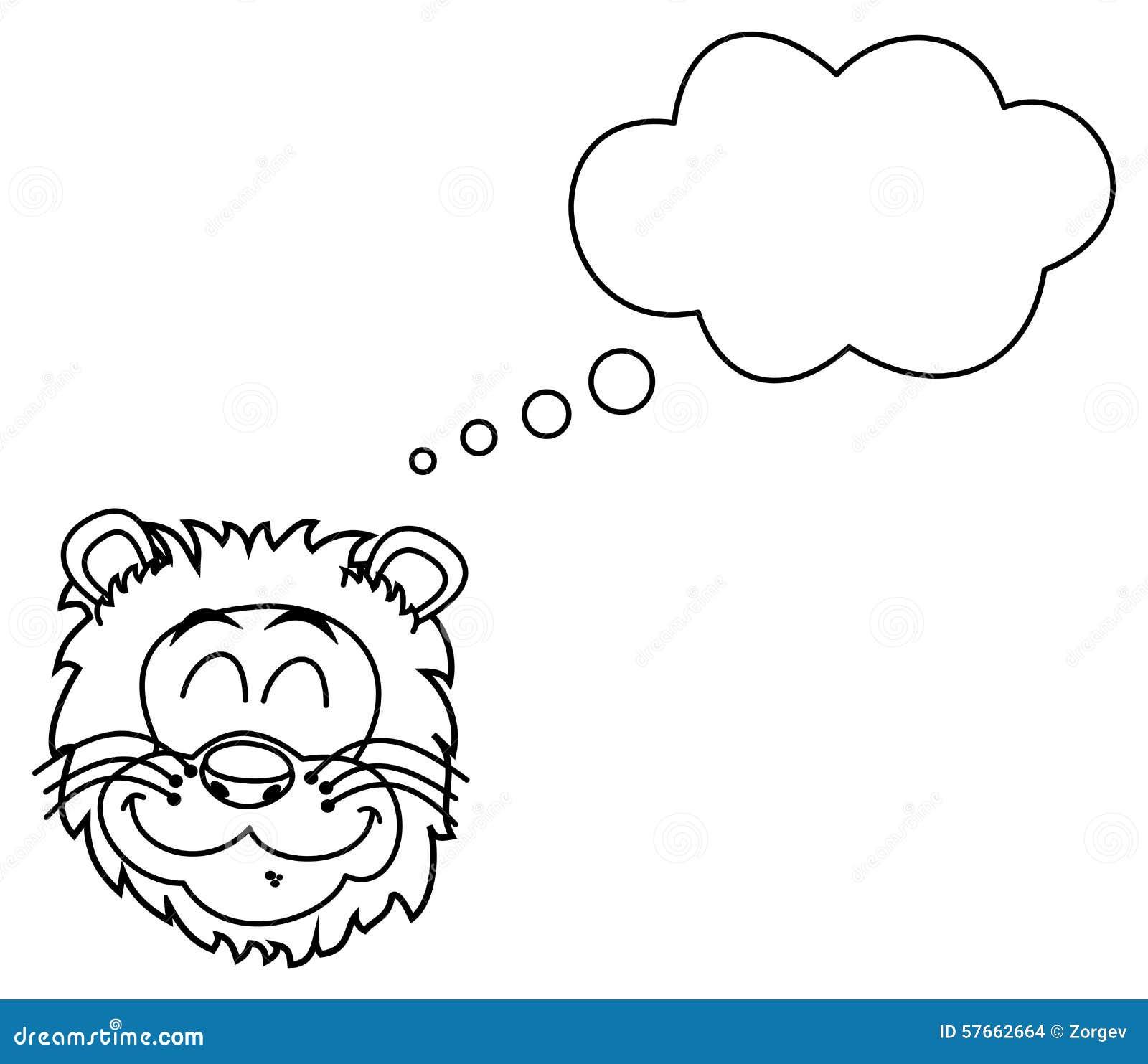 Lwa kierowniczy ono uśmiecha się dla barwić