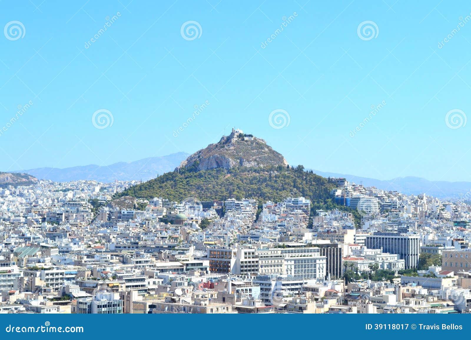 Lycabettusheuvel in Griekenland