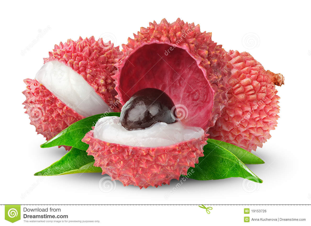 Isolated lychees