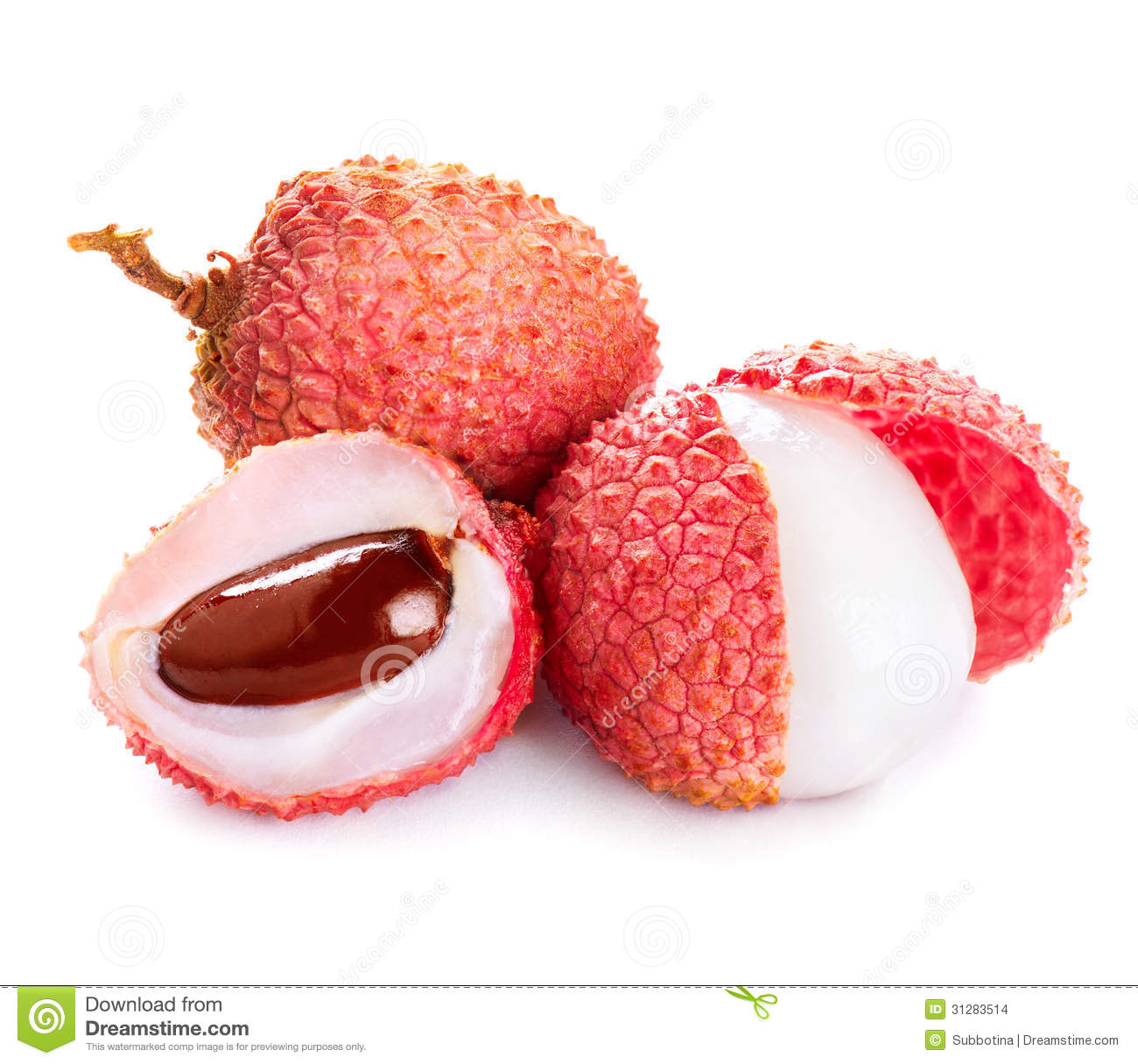 Lychee. Fresh Lychees Stock Images - Image: 31283514