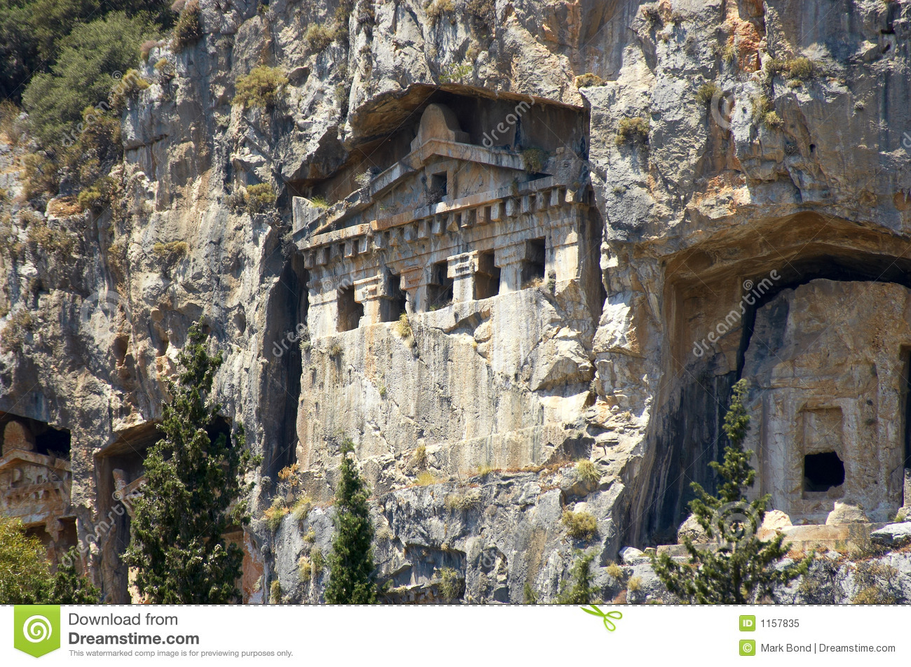 Lycian Rock Tombs Royalty Free Stock Photo - Image: 1157835