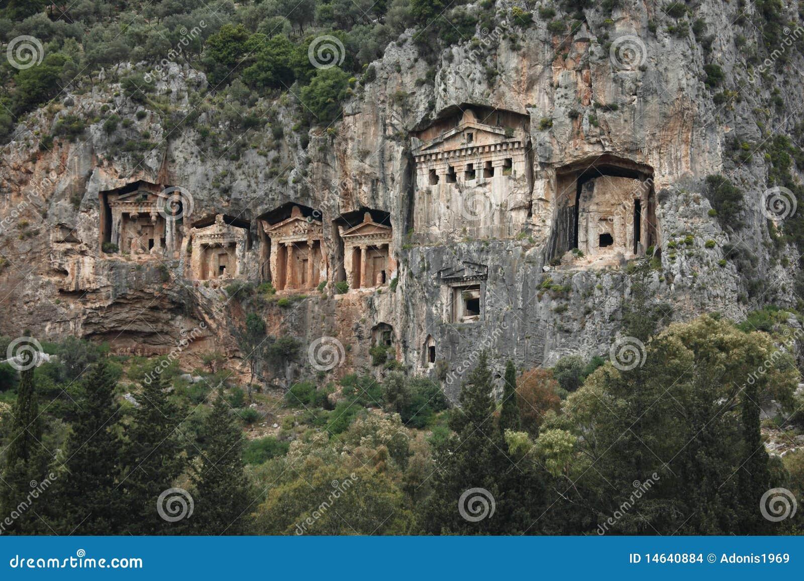 Lycian Tombs, Kaunos,Turkey Stock Images - Image: 14640884