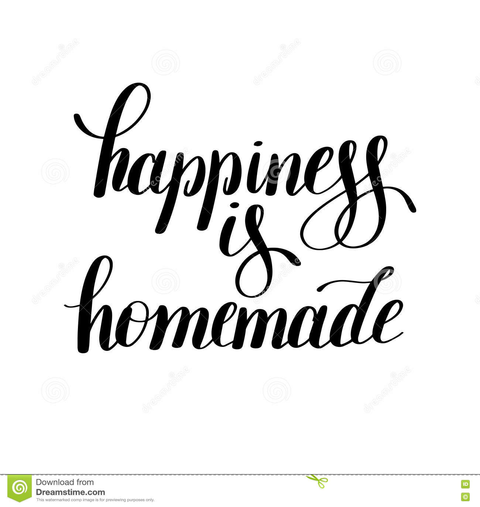 Lycka är det hemlagade handskrivna positiva inspirerande citationstecknet