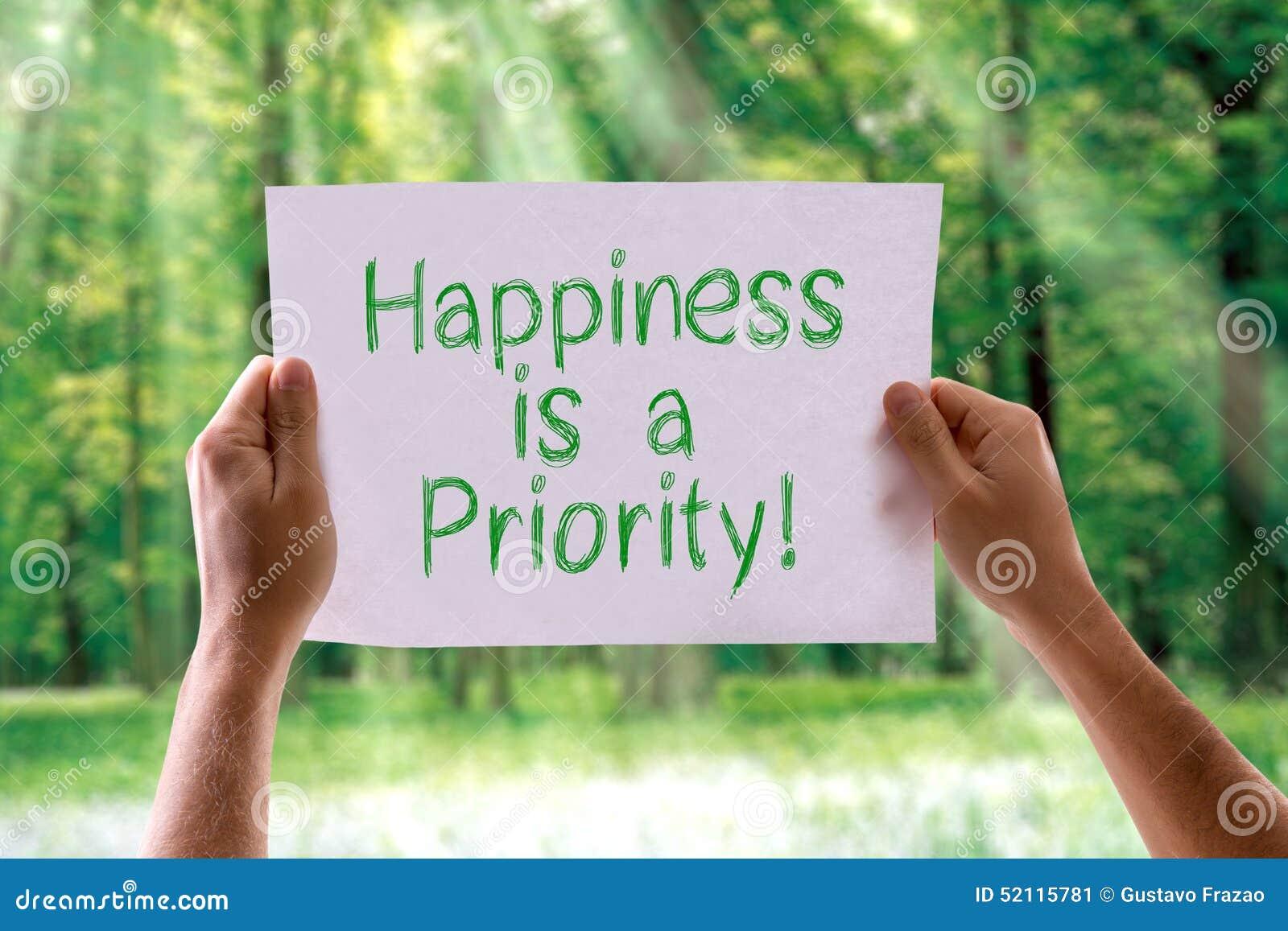 Lycka är ett prioritetskort med naturbakgrund