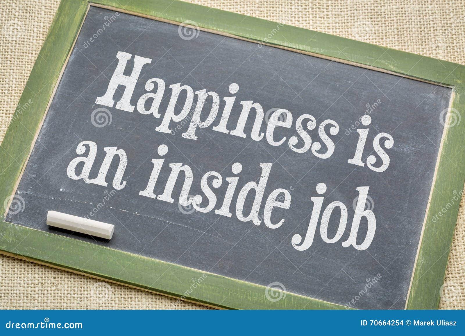 Lycka i ett inre jobb