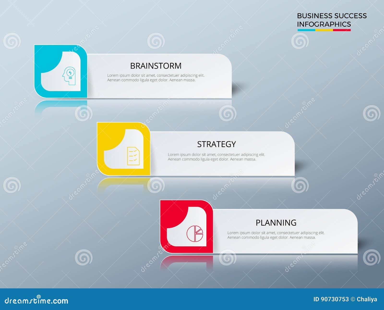 Lyckad affärsidédesign som marknadsför den infographic mallen Infographics med symboler och beståndsdelar