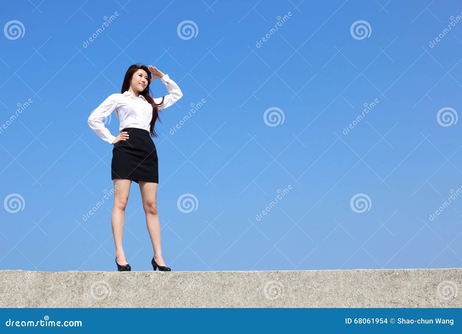 Lyckad blick för affärskvinna
