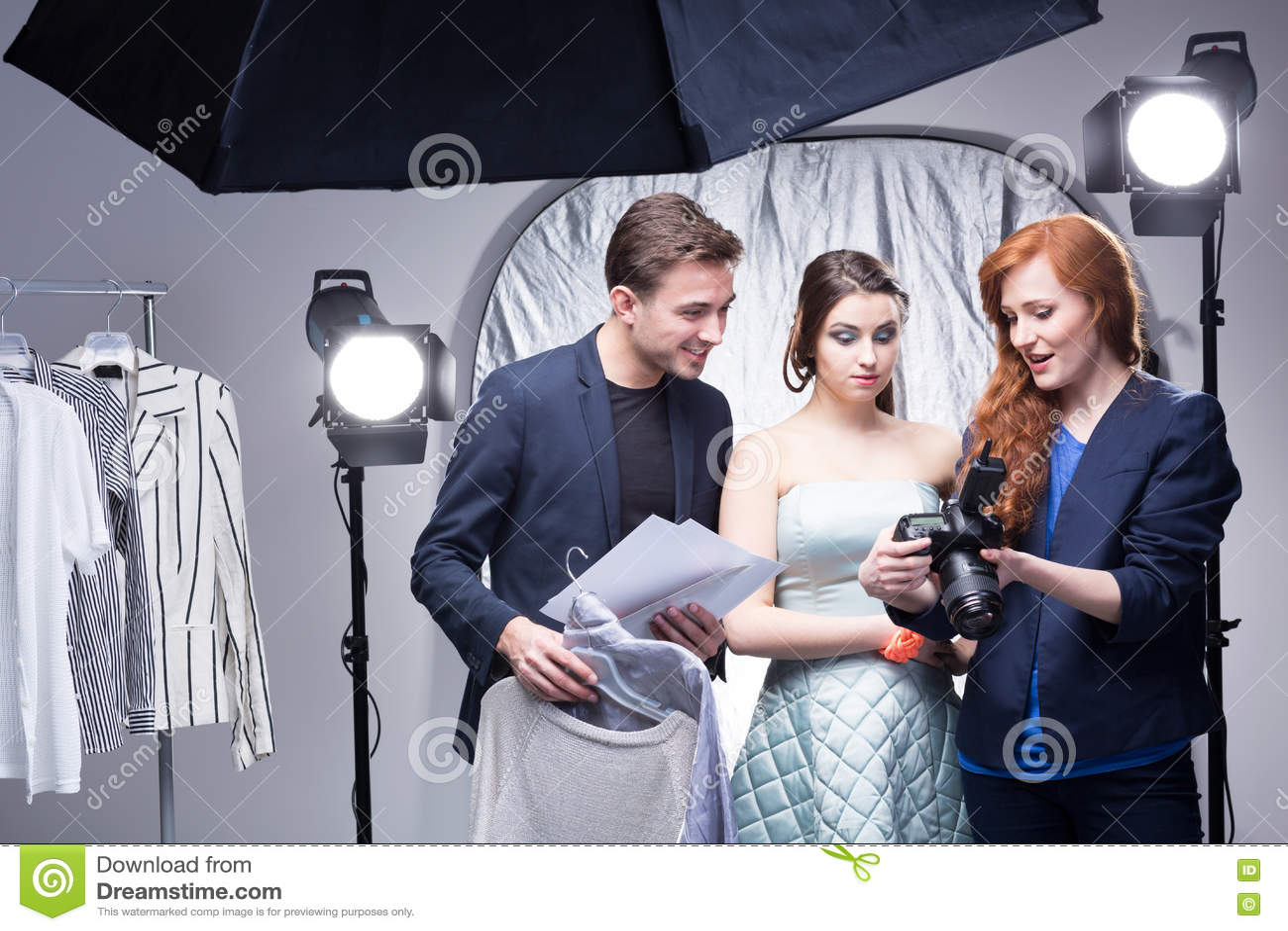 Lyckad glamourperiod i en yrkesmässig studio