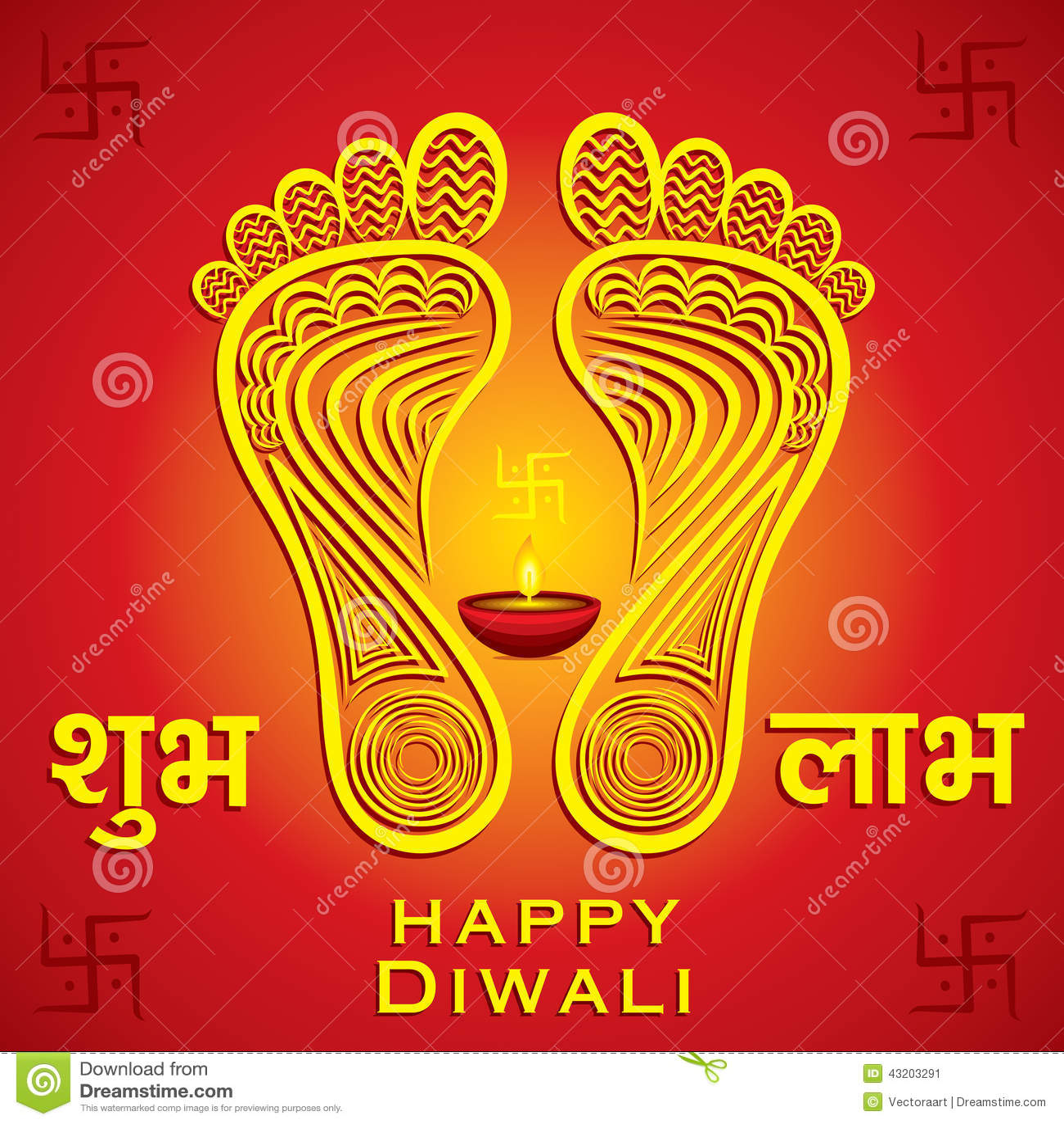 Download Lycklig Bakgrund För Kort För Diwali- Eller Navratrifestivalhälsning Vektor Illustrationer - Illustration av diagram, godhet: 43203291