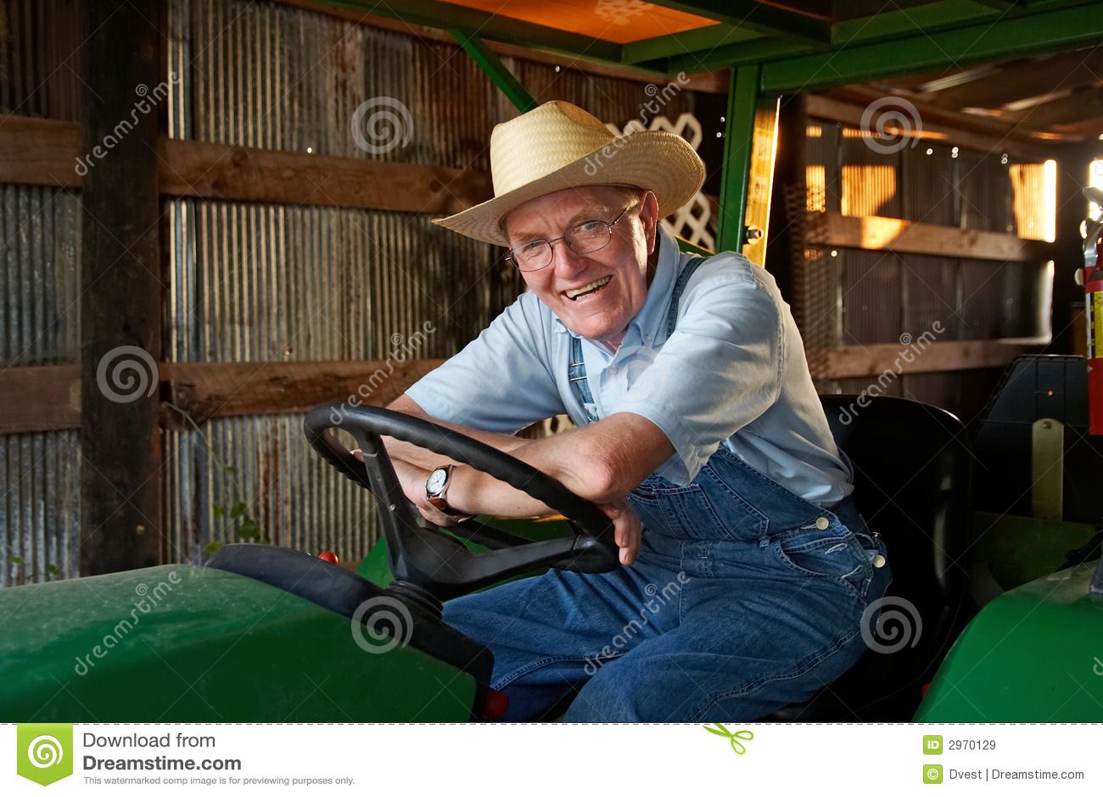 Lycklig bonde