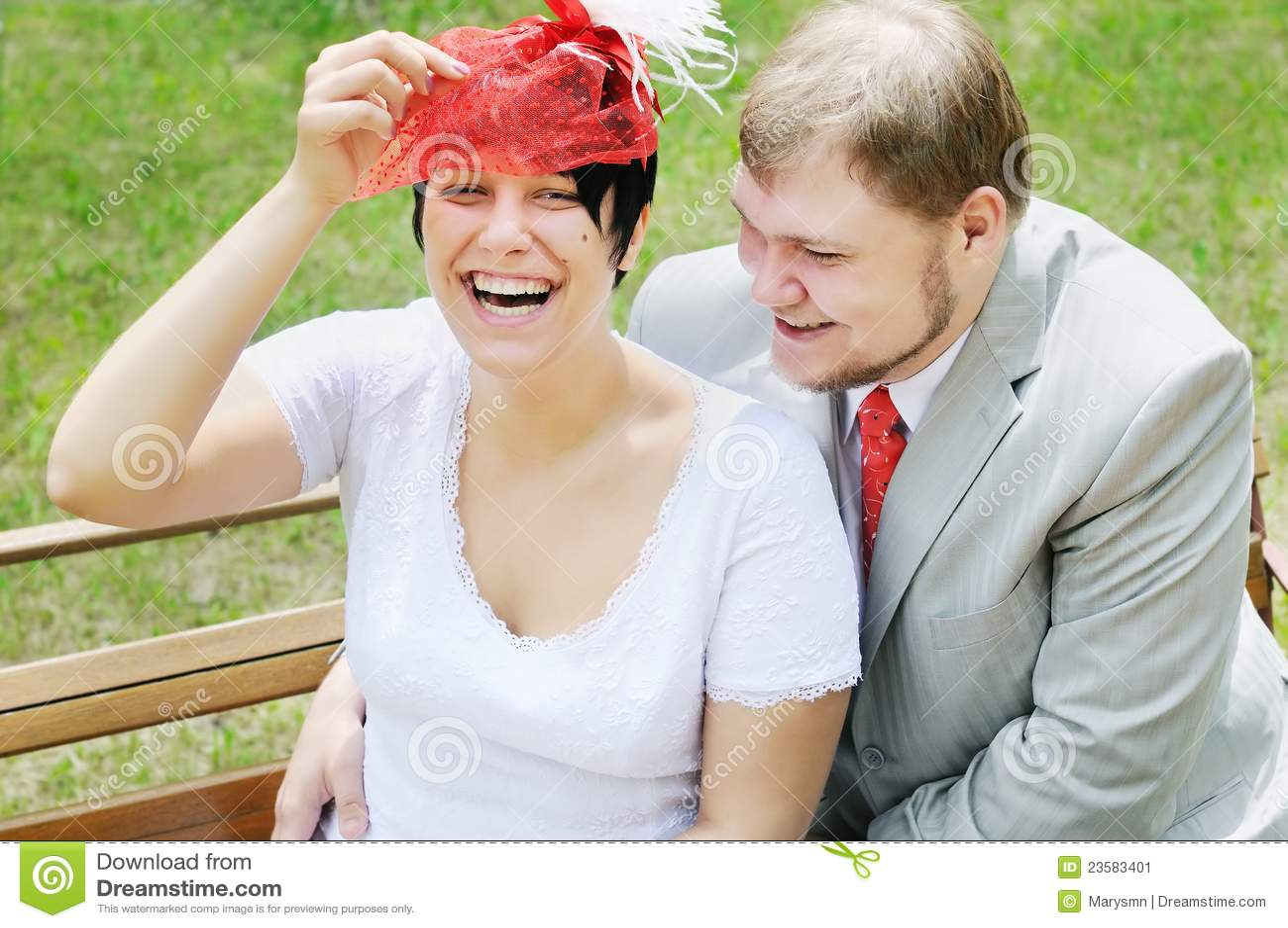 Lycklig brudbrudgum