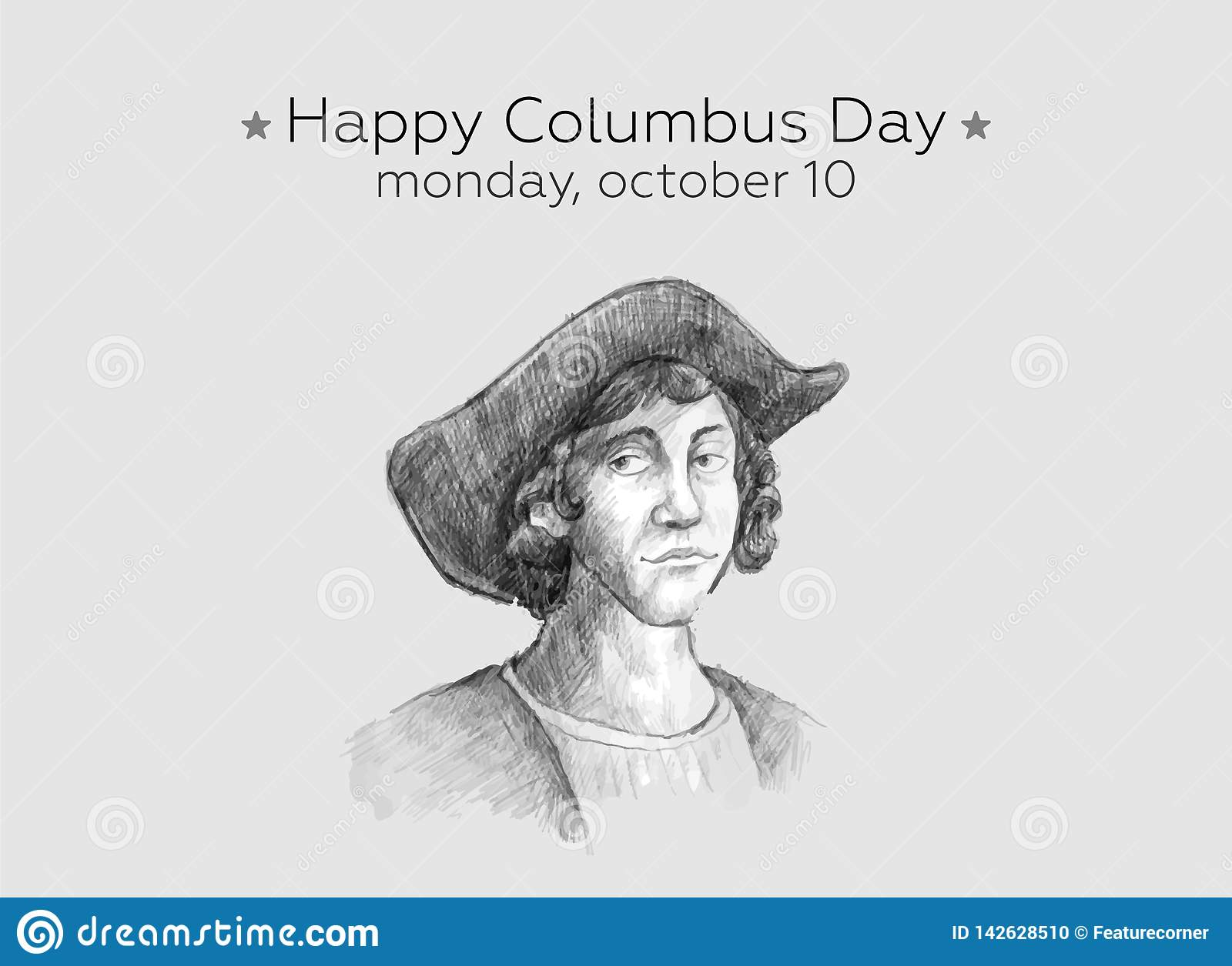 Lycklig Columbus Day Design Concept Vector plan design Lyckliga Columbus Day Greetings eller baner eller vykort eller affisch ell
