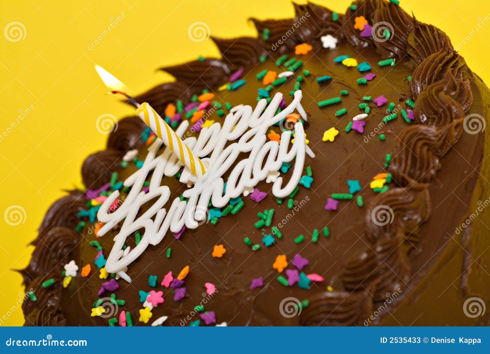 Lycklig födelsedagcake
