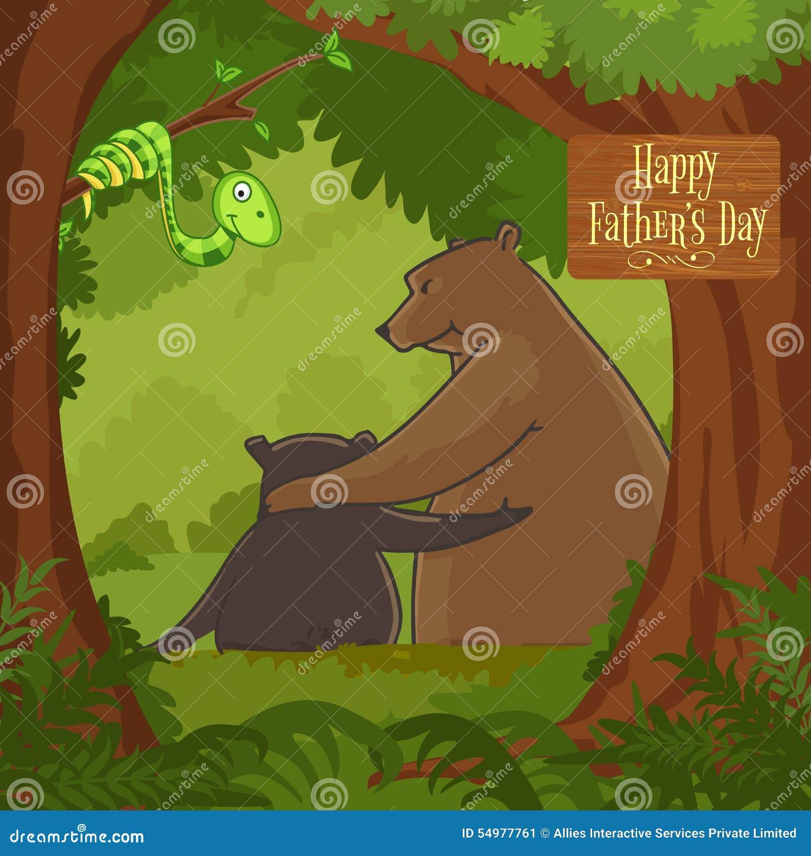 Lycklig faders beröm för dag med björnen och gröngölingen