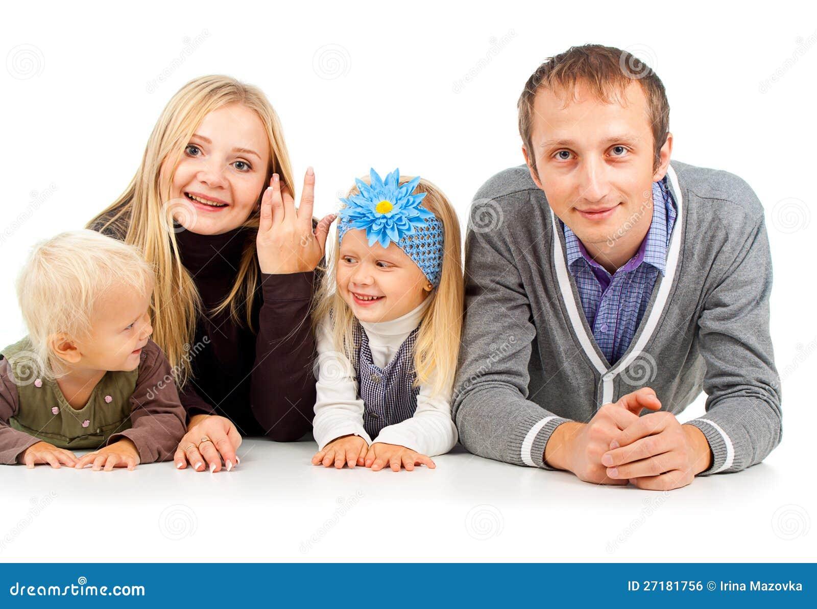 Lycklig familj med ungt barn