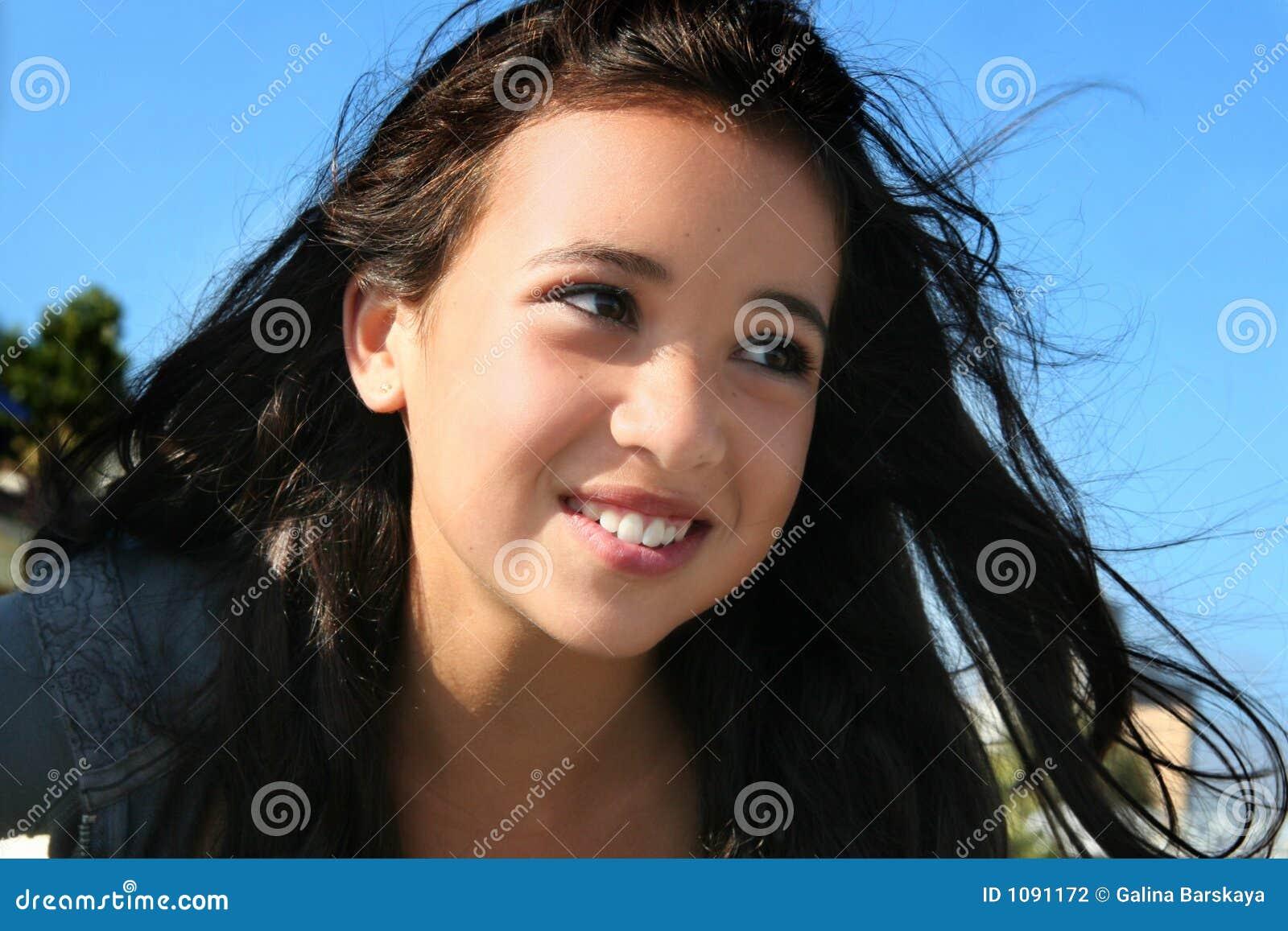 Lycklig flicka