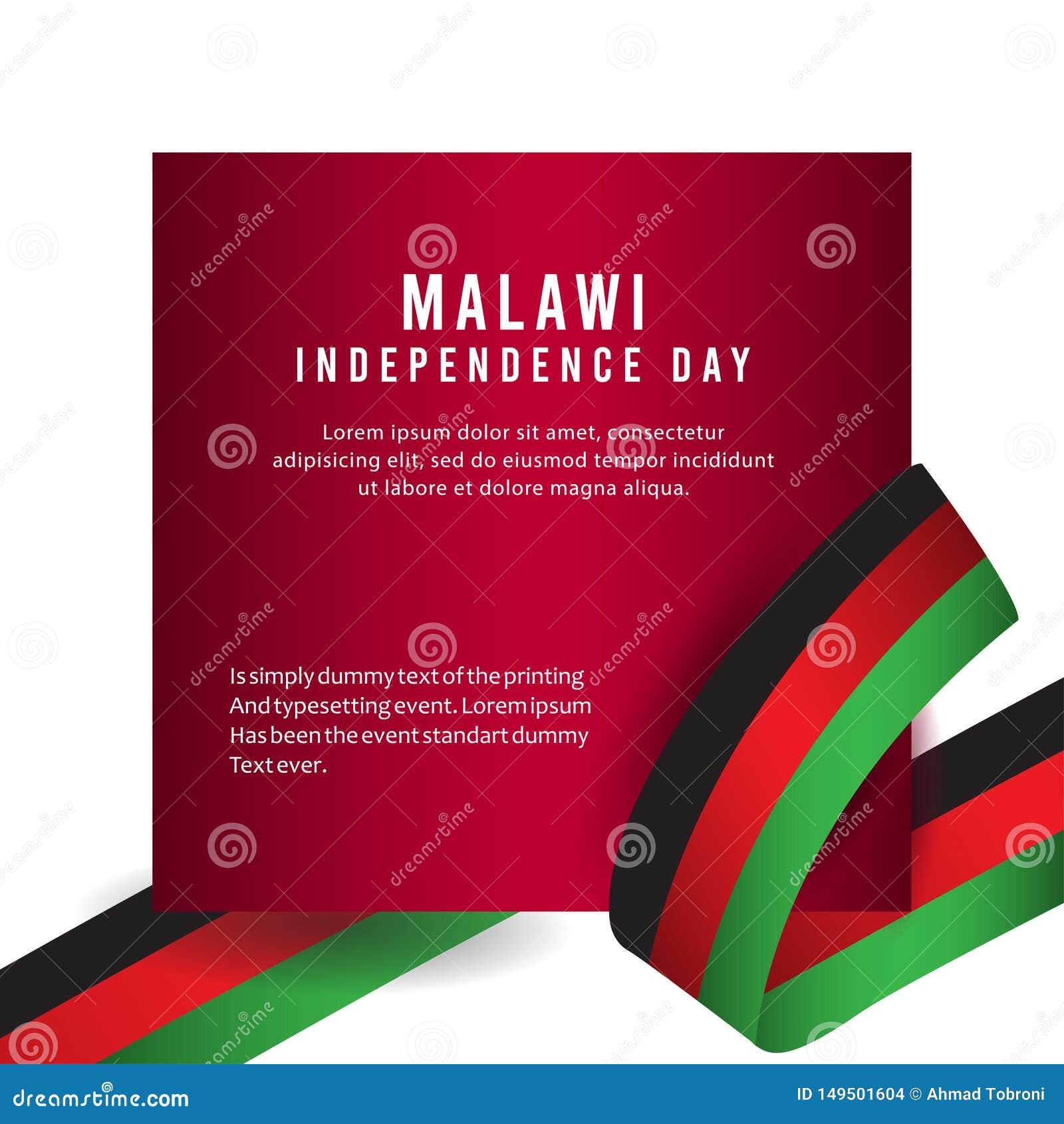 Lycklig illustration för design för mall för vektor för affisch för Malawi självständighetsdagenberöm
