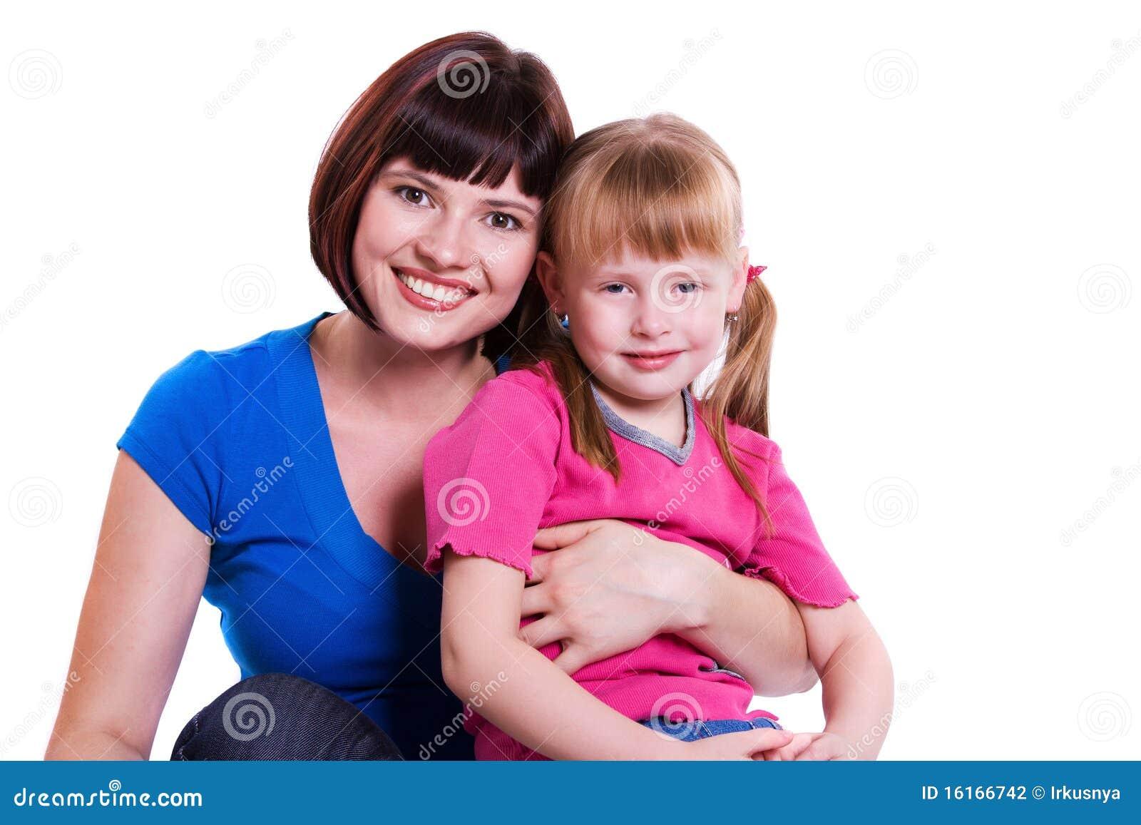 Lycklig moder för dotterfamilj