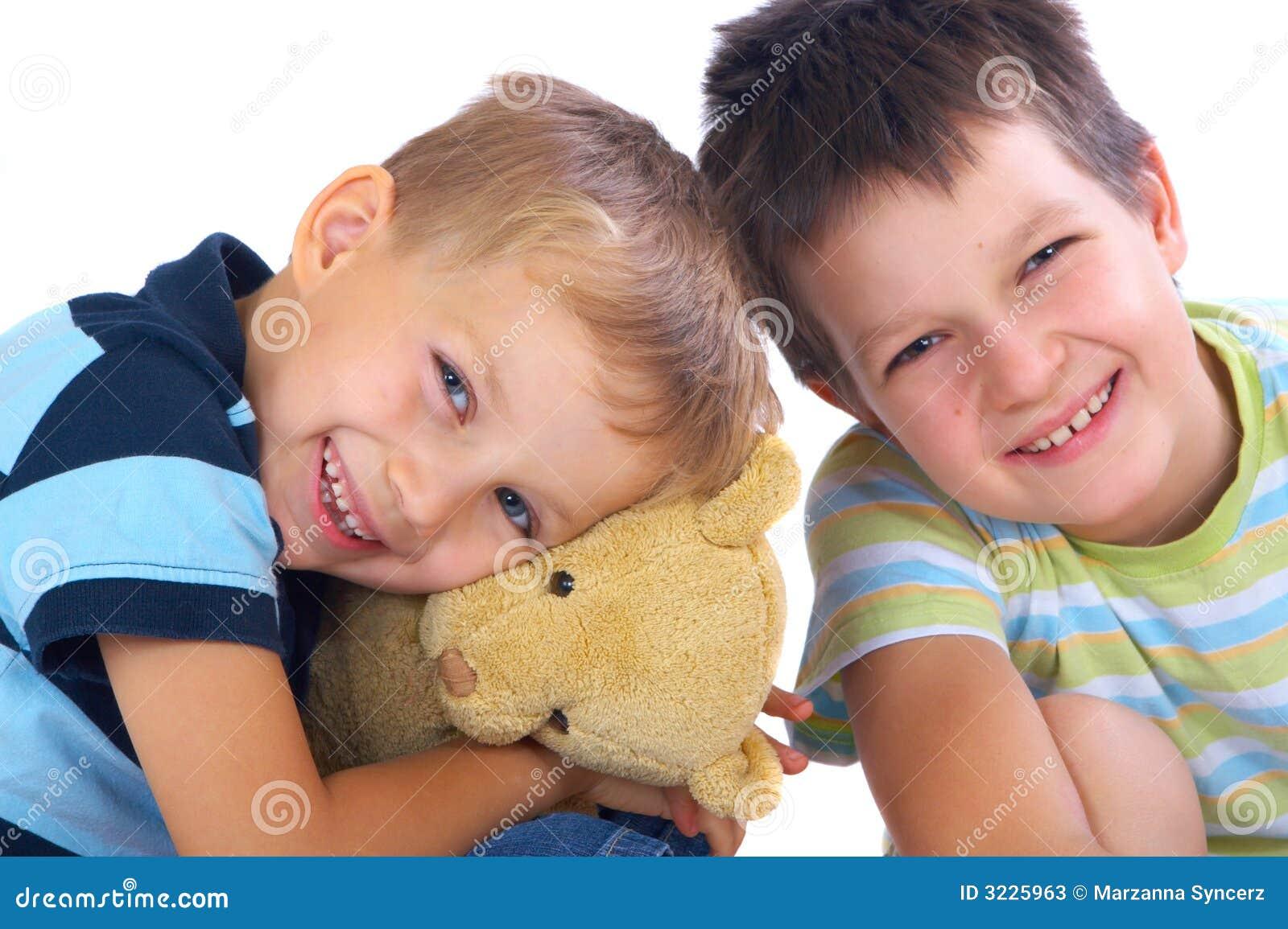 Lycklig nalle för björnbröder
