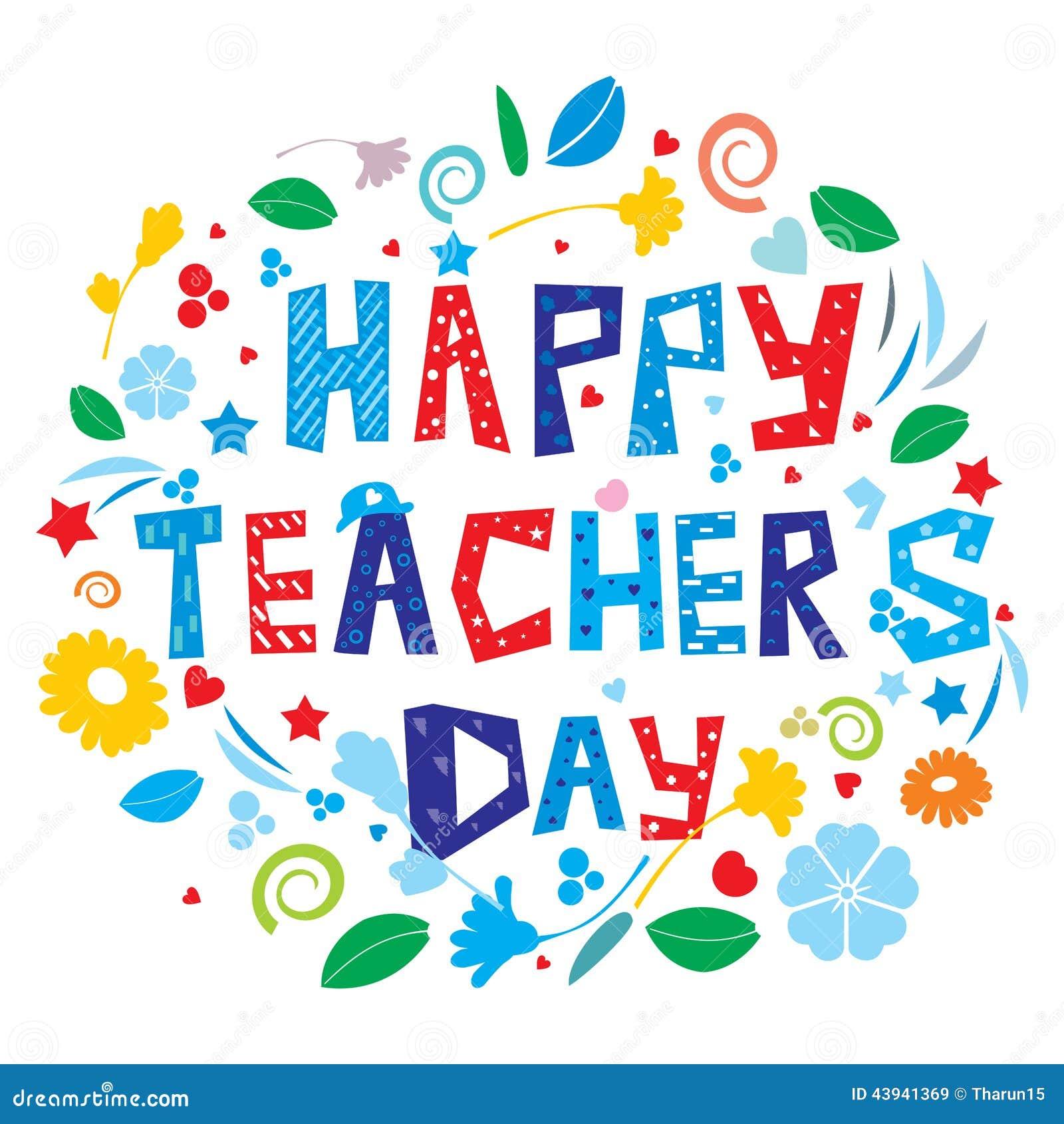 Lycklig s lärare för dag