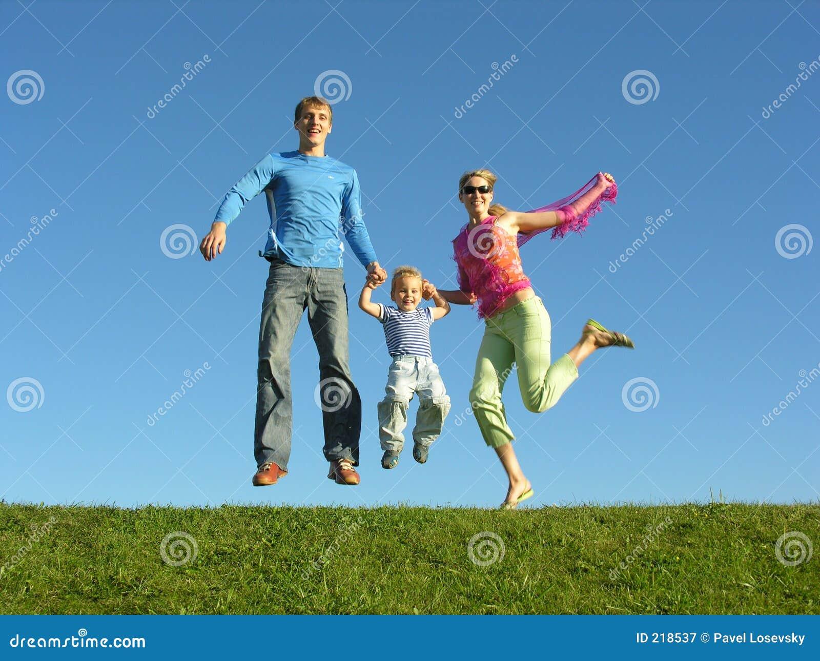 Lycklig sky för blå familjfluga